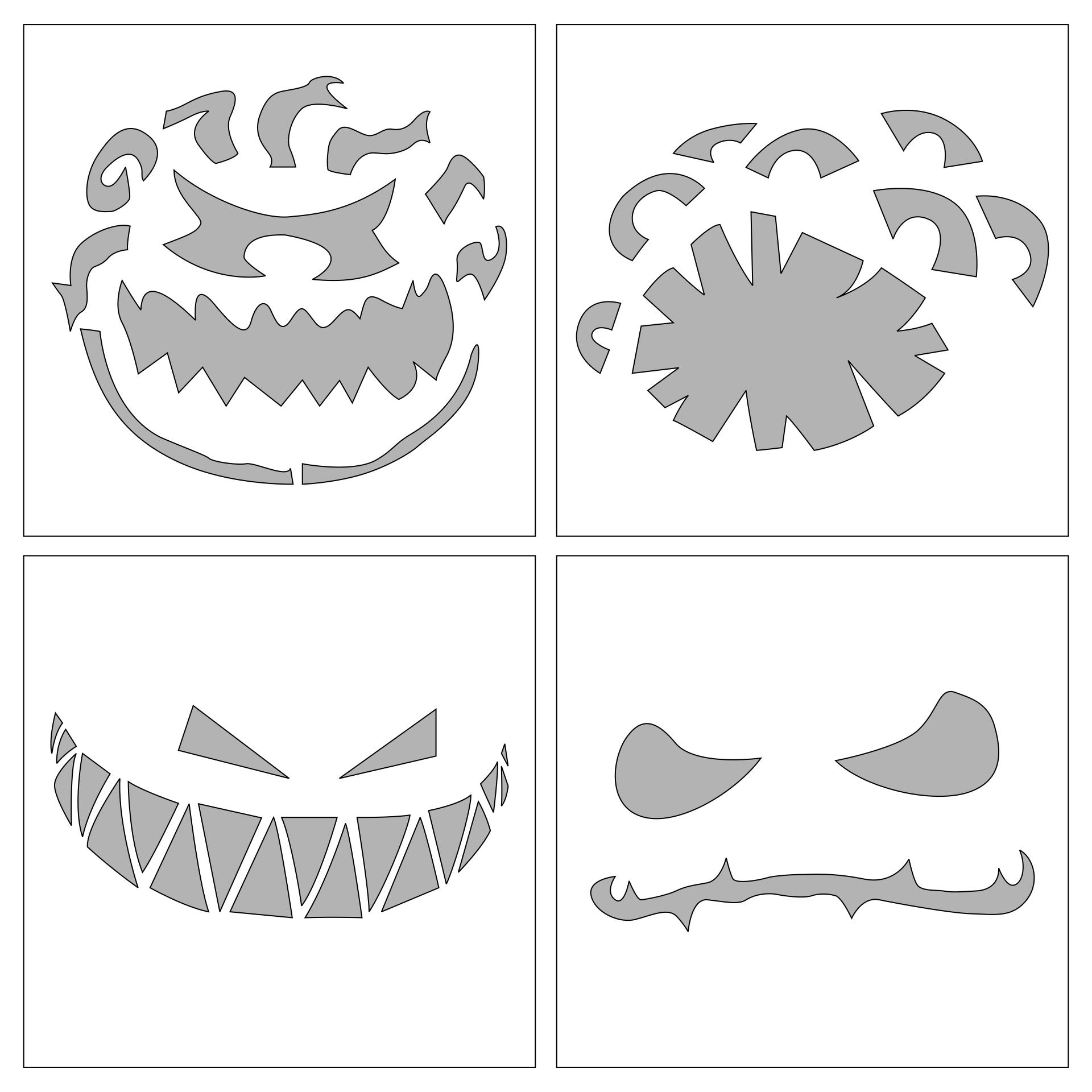 Halloween Pumpkin Templates Printable