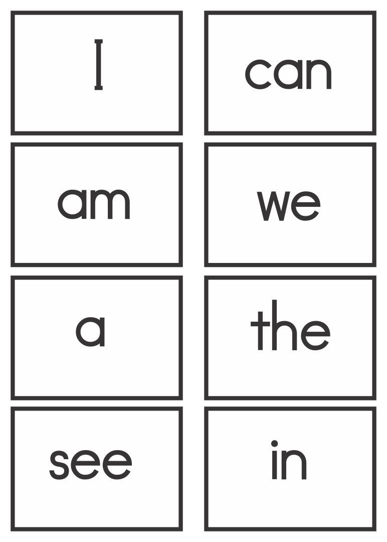 First 100 Sight Words Printable