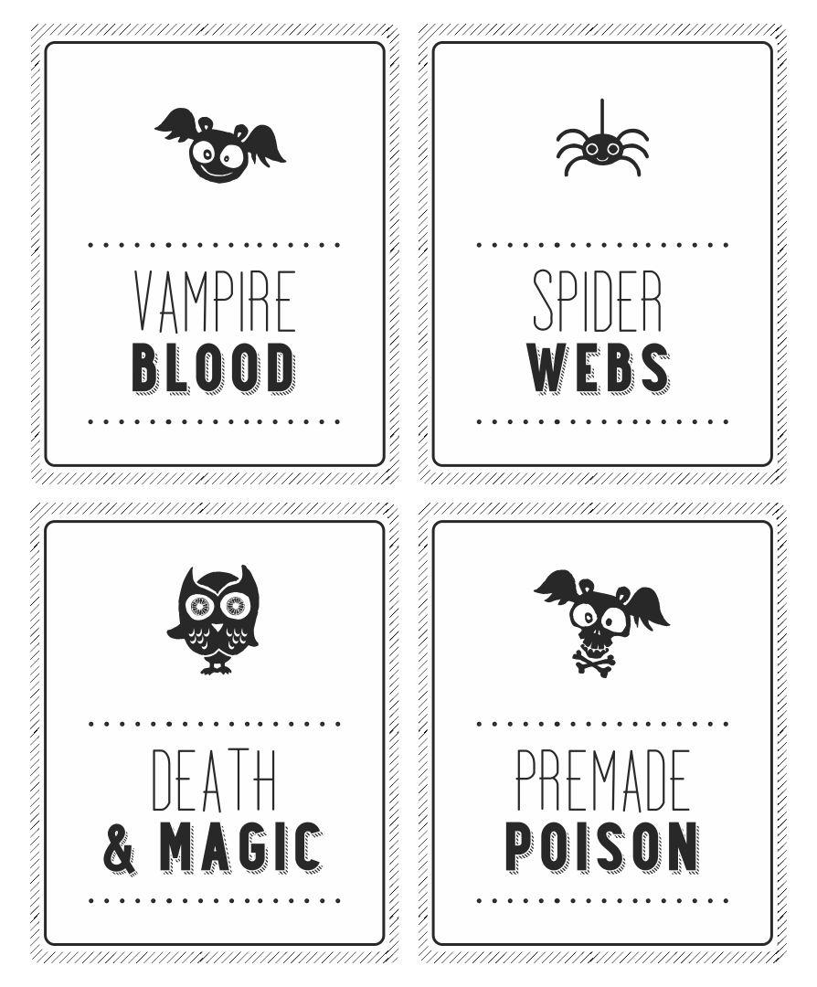 Halloween Printable Soda Label