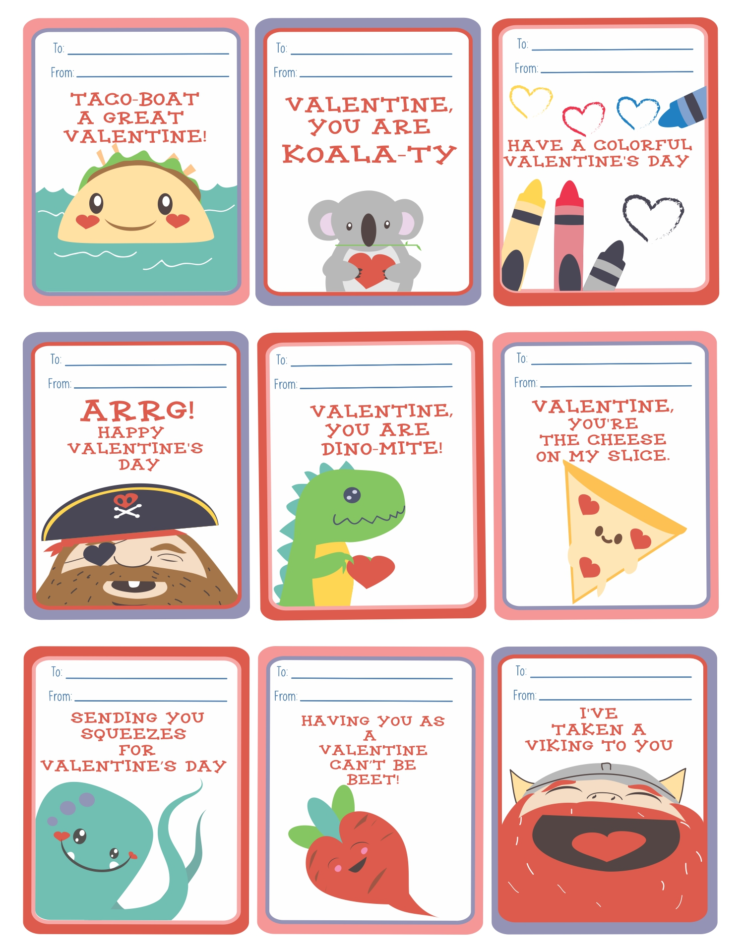 Printable Kids Valentine
