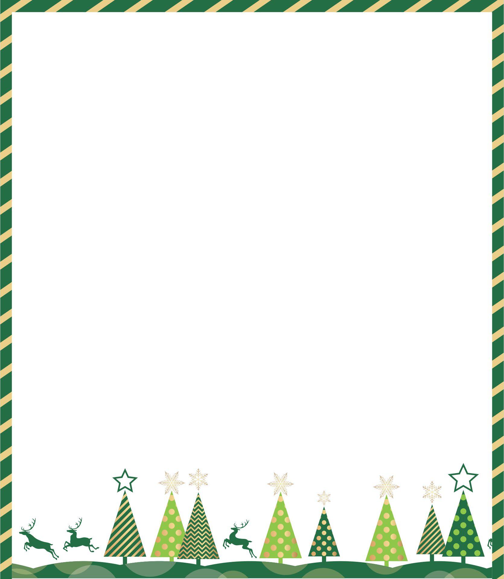 Printable Christmas Borders For Flyers