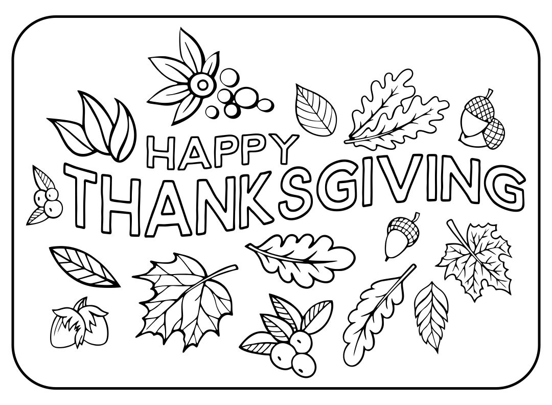 Happy Thanksgiving Turkey Coloring Page Printables