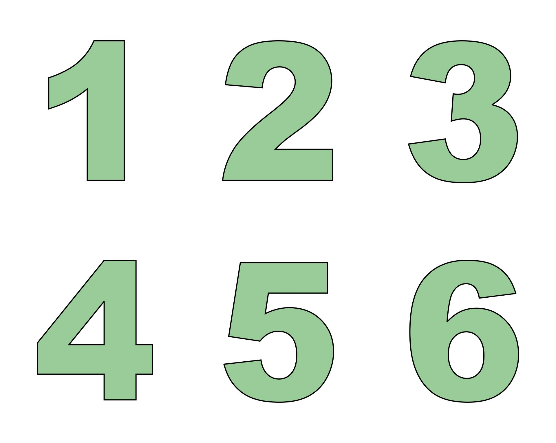 Large Printable Number 6