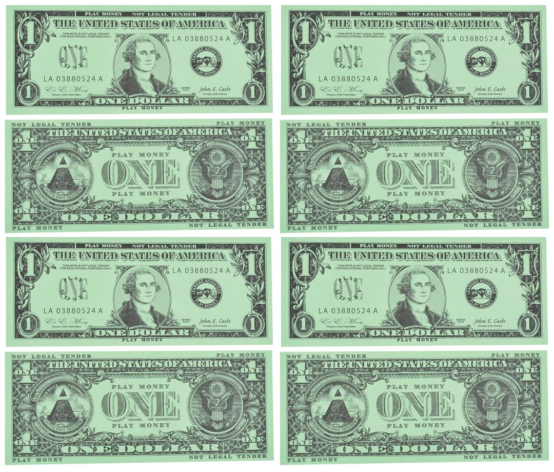Fake Play Money Printable
