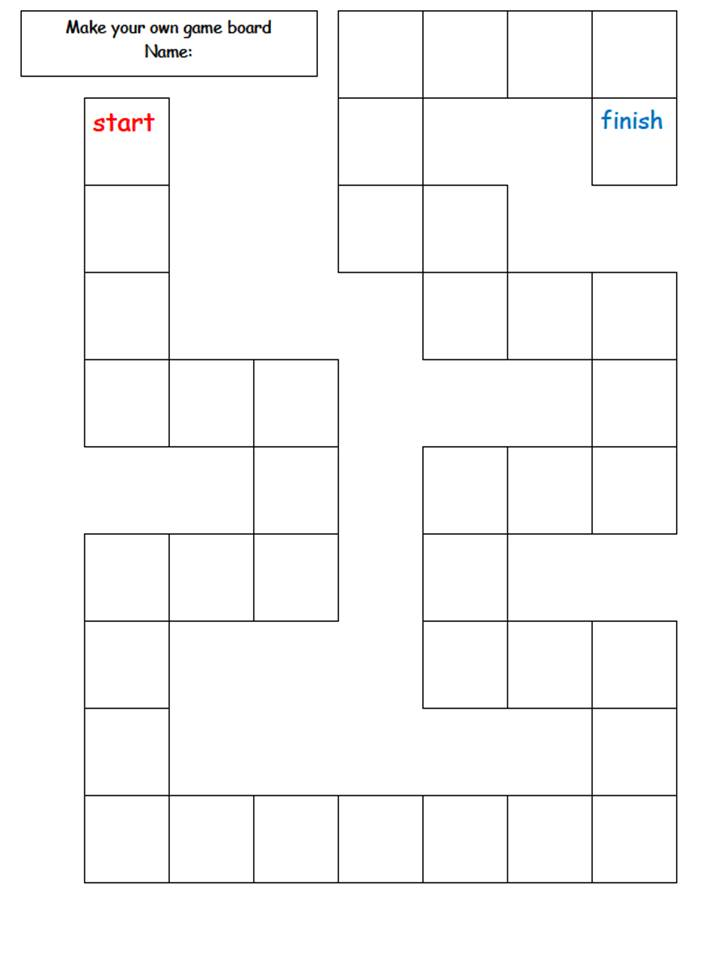 Make Your Own Board Game Printable Template