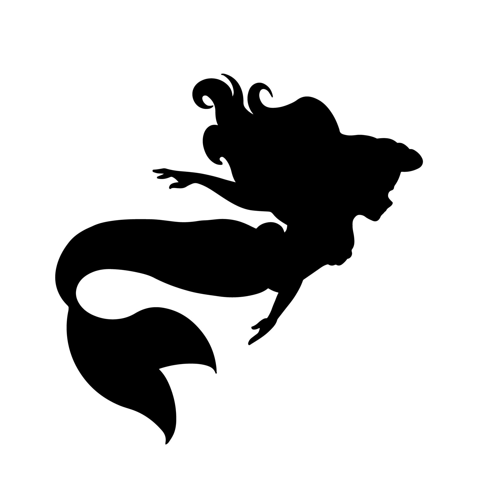Little Mermaid Printable Stencils