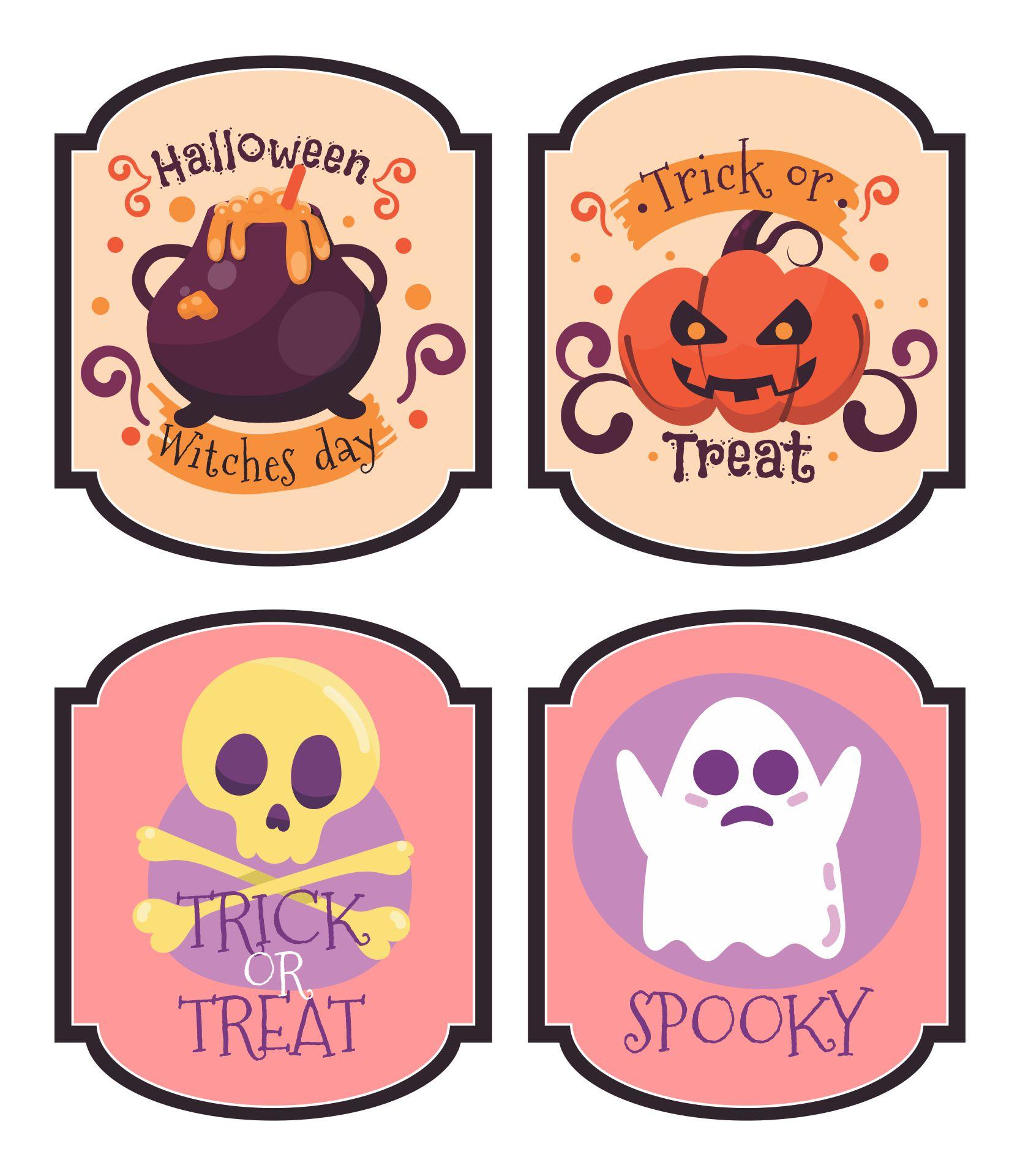 Halloween Drink Labels Printables
