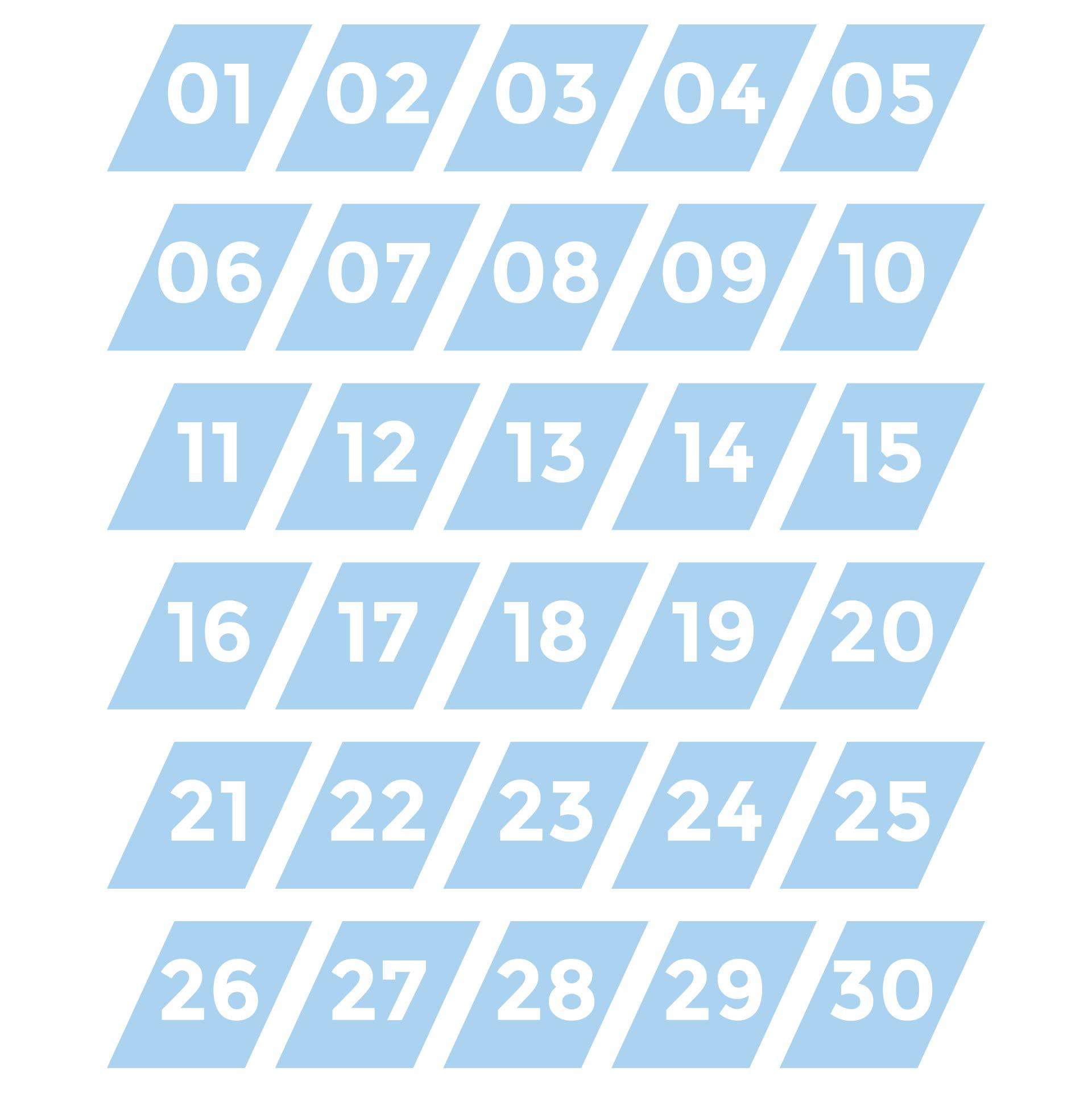 Printable Numbers 1- 30