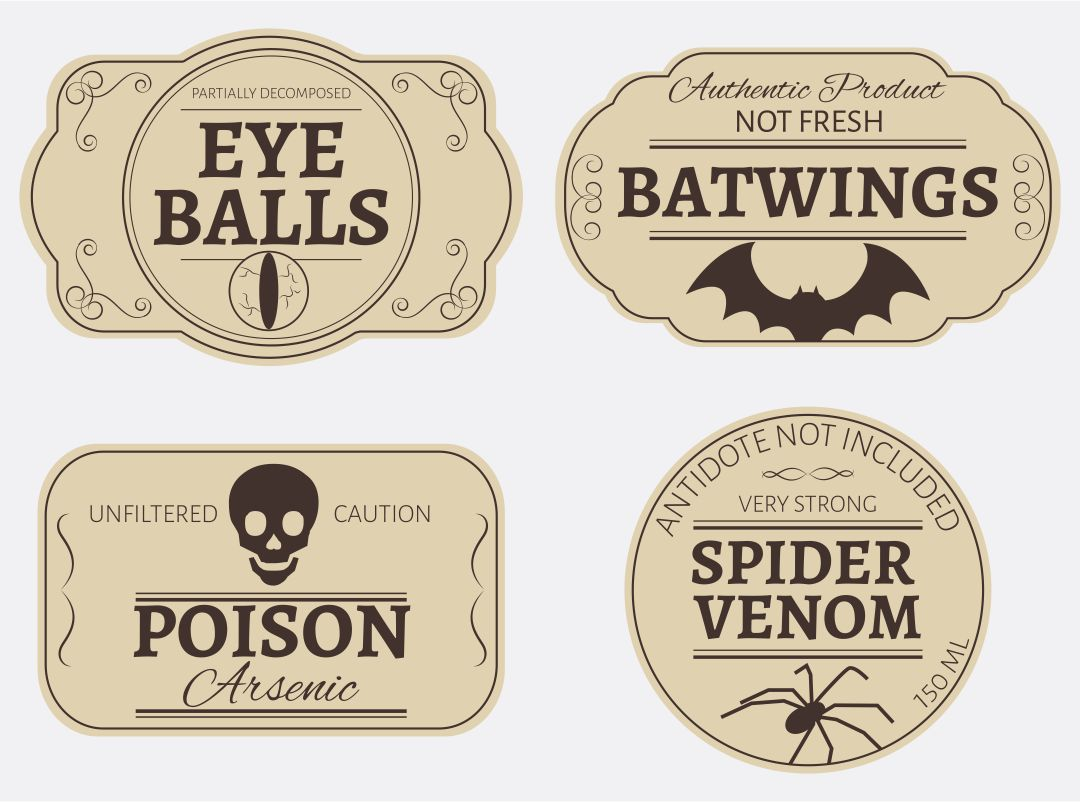 Printable Halloween Poison Labels