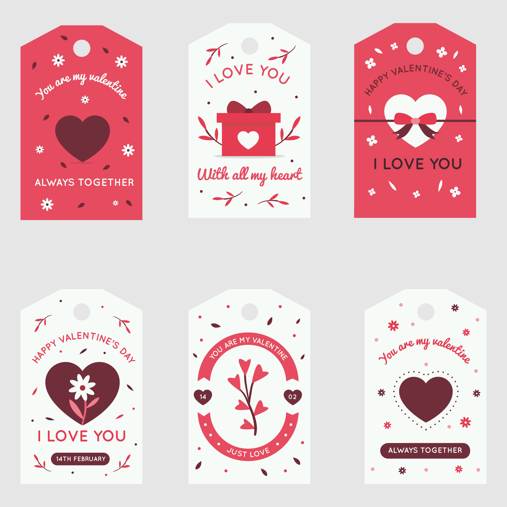 Heart Printable Valentine Gift Tags