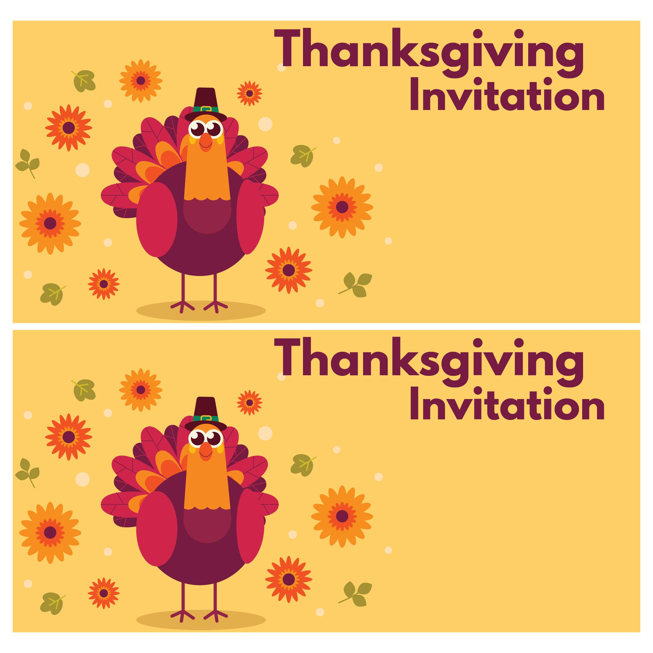 Thanksgiving Printable Invitation Templates