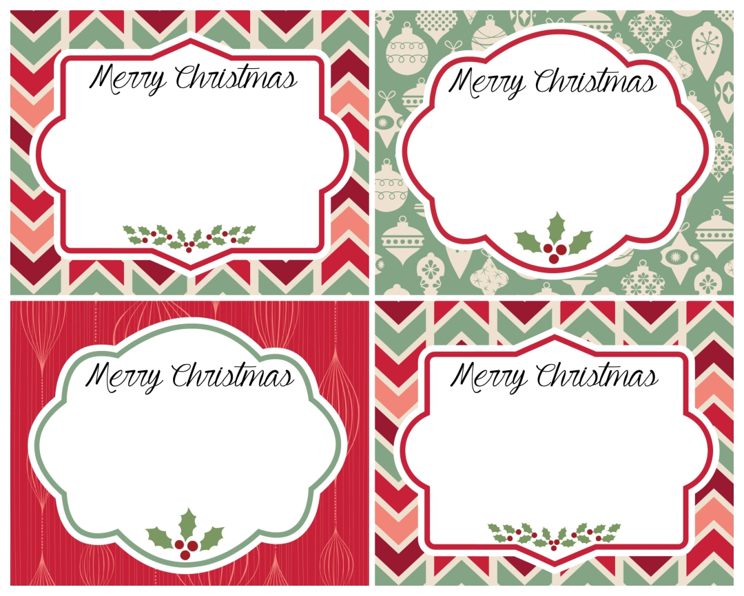 Vintage Christmas Printable Labels