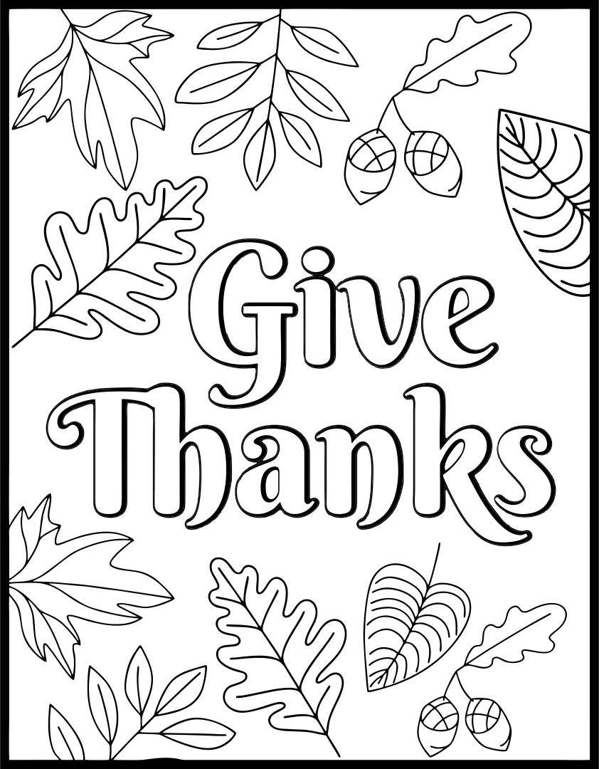 Printable Thanksgiving Activity Sheet