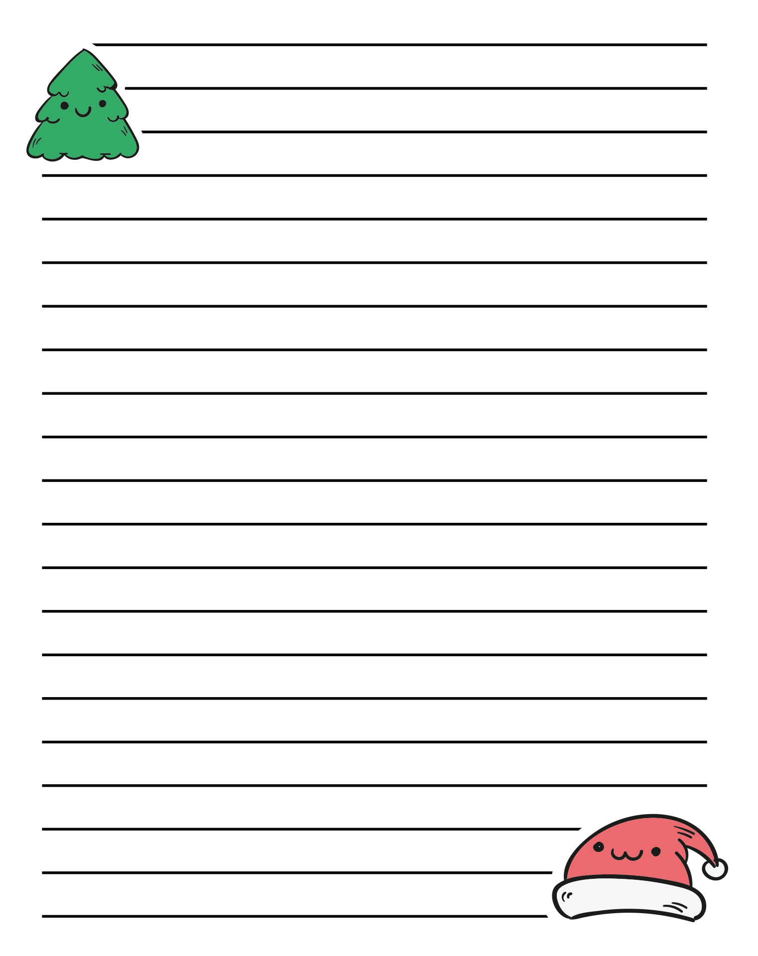 Christmas Writing Paper Template Printable