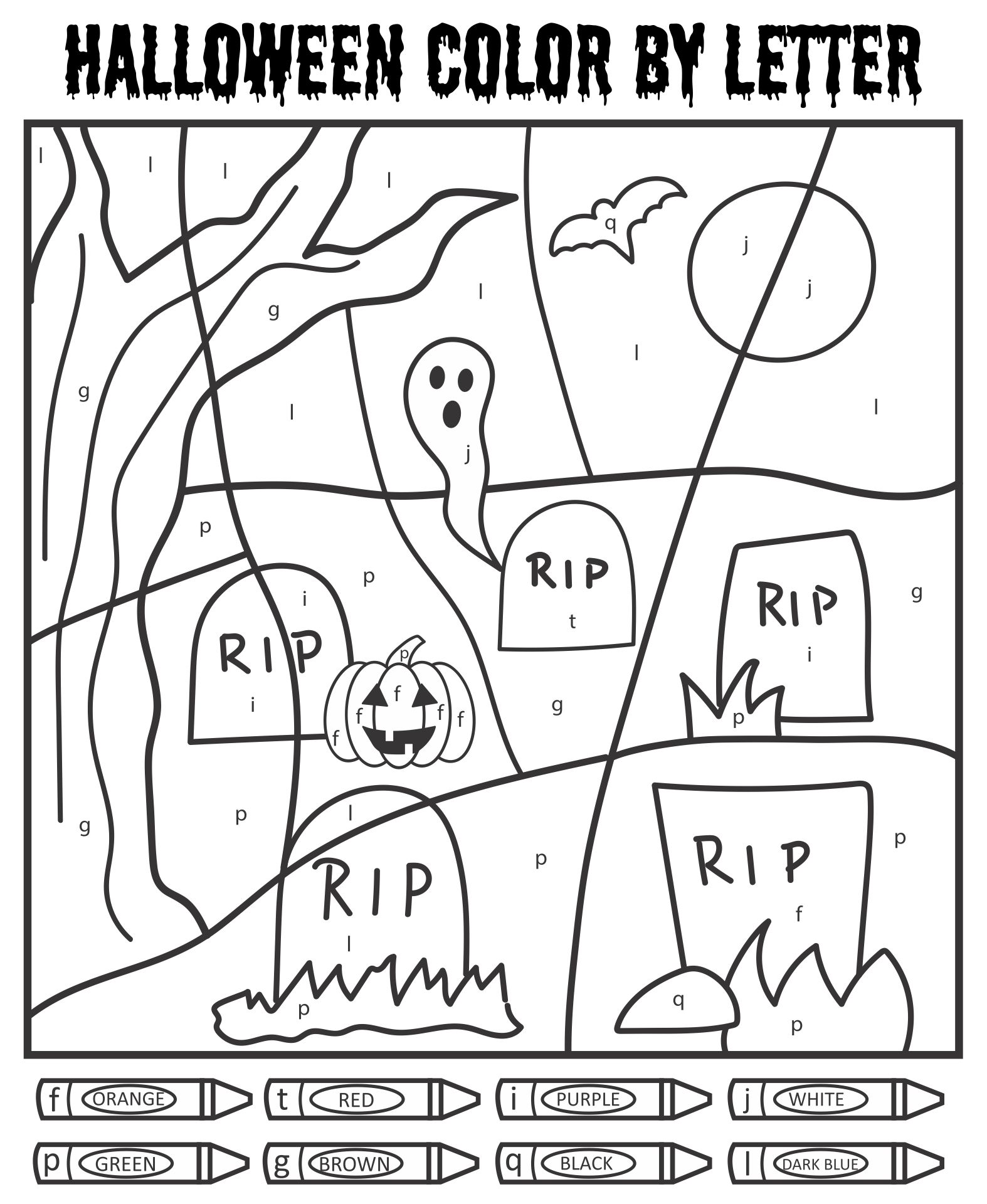Halloween Color By Number Printables