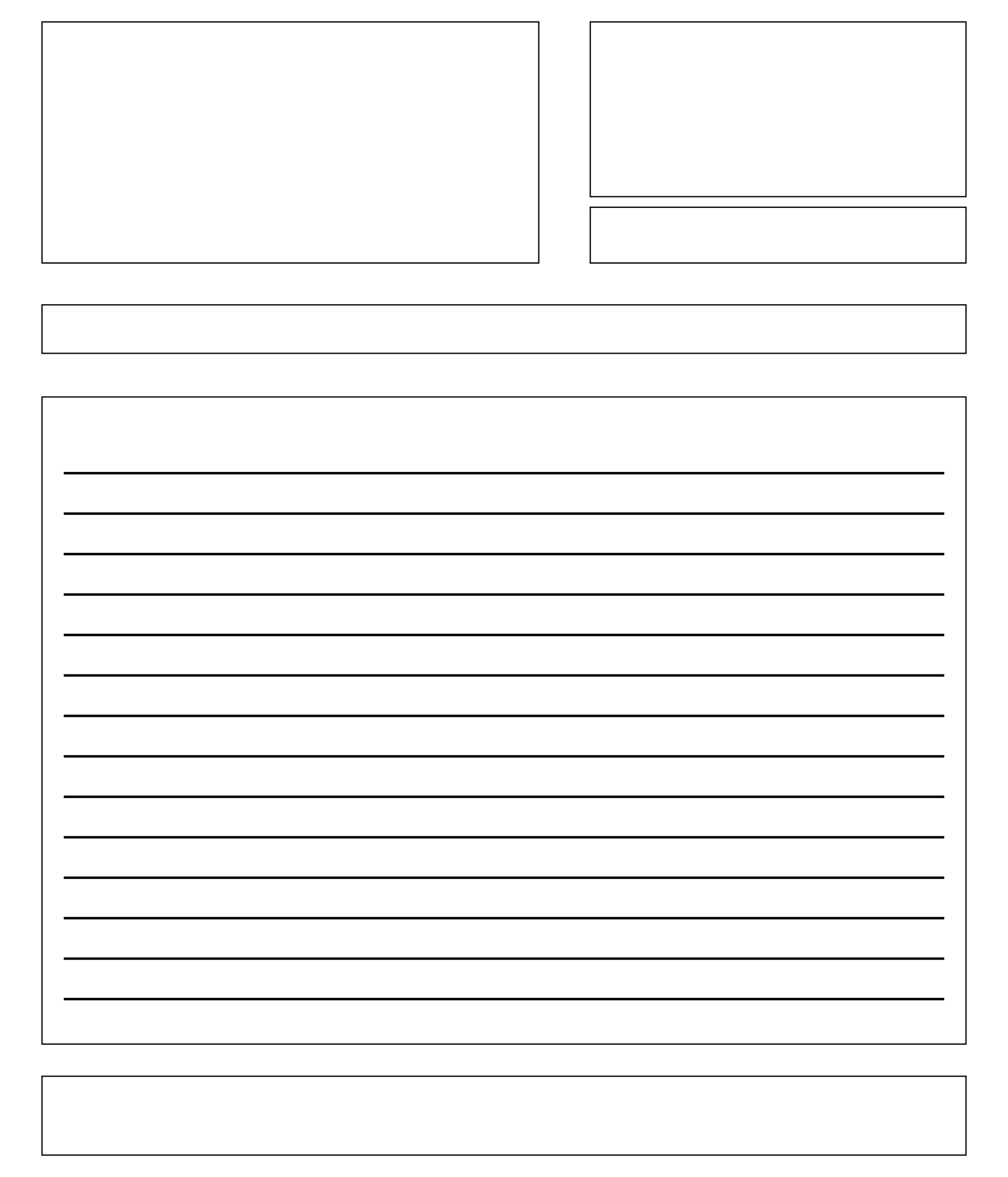 Printable Blank Letter Template