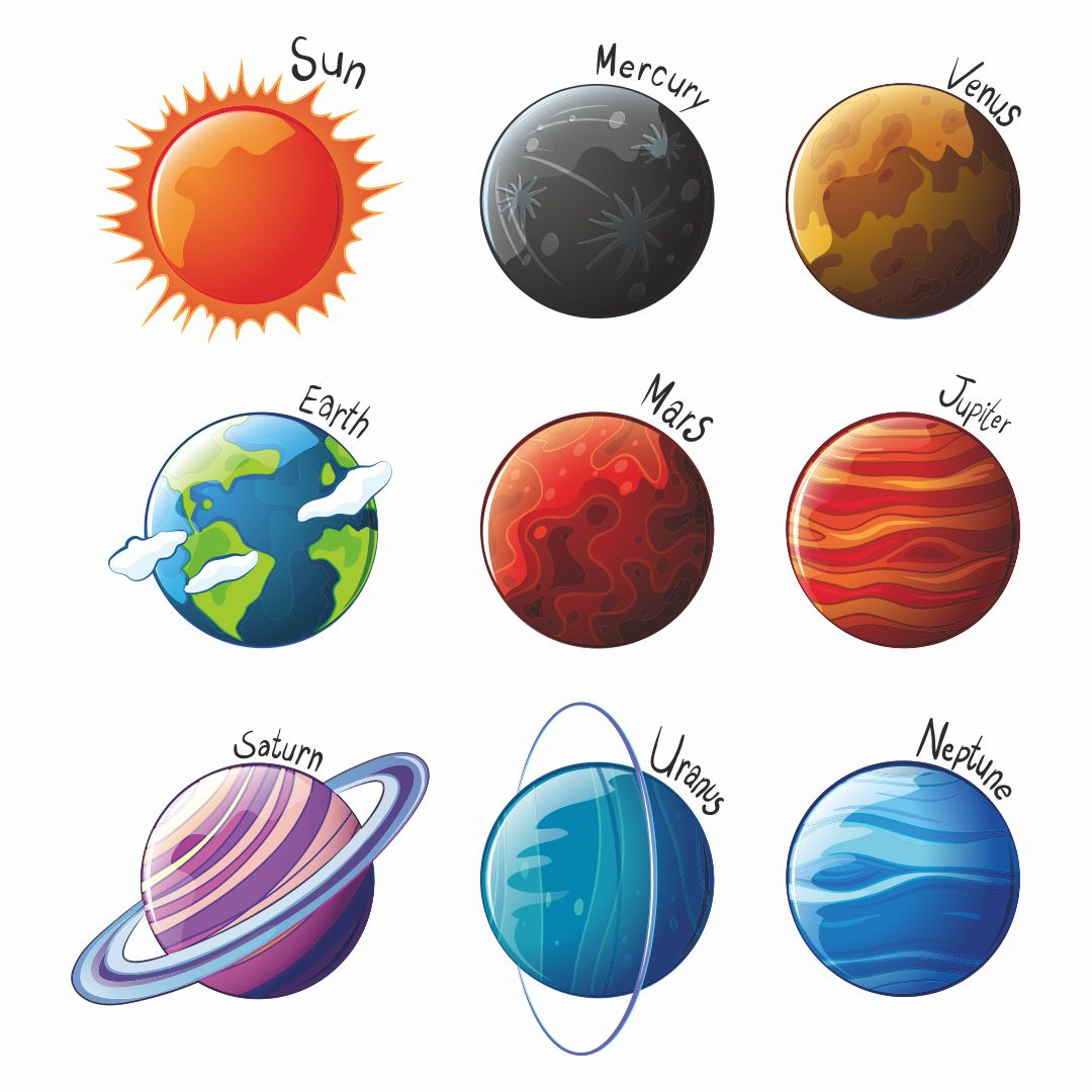 Printable Planet Cut Outs