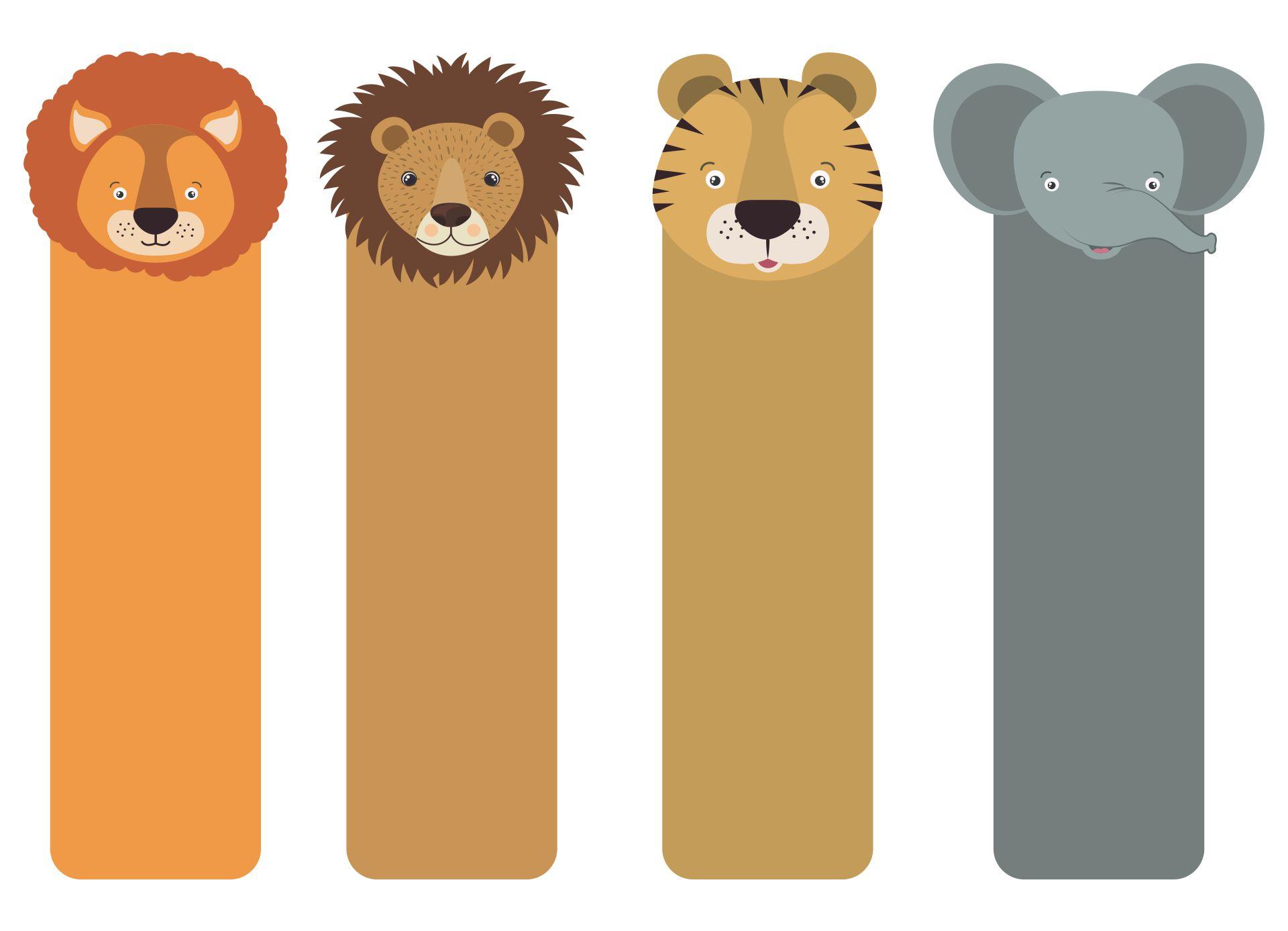 Printable Animal Bookmarks To Color