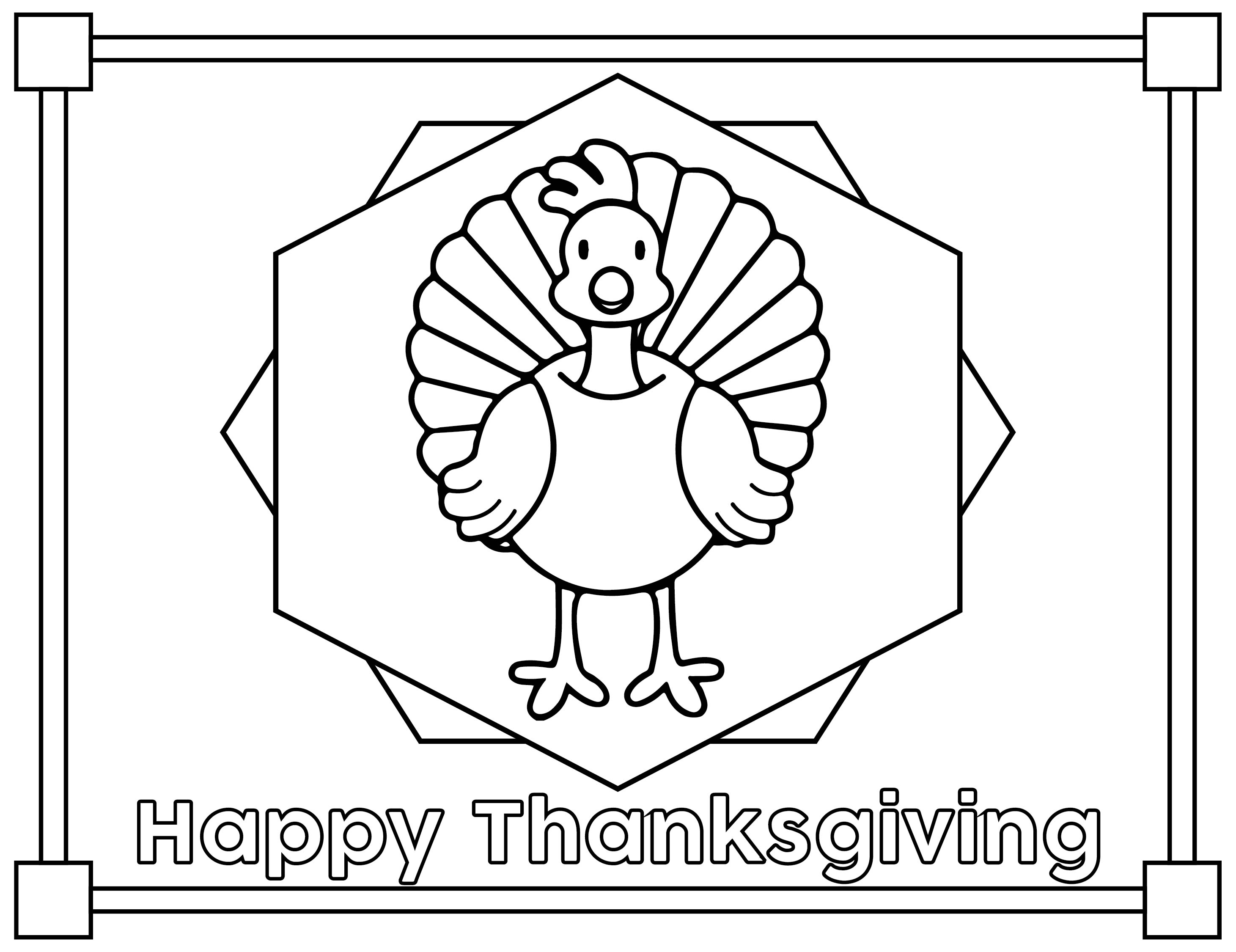 Preschool Printables Thanksgiving Placemats