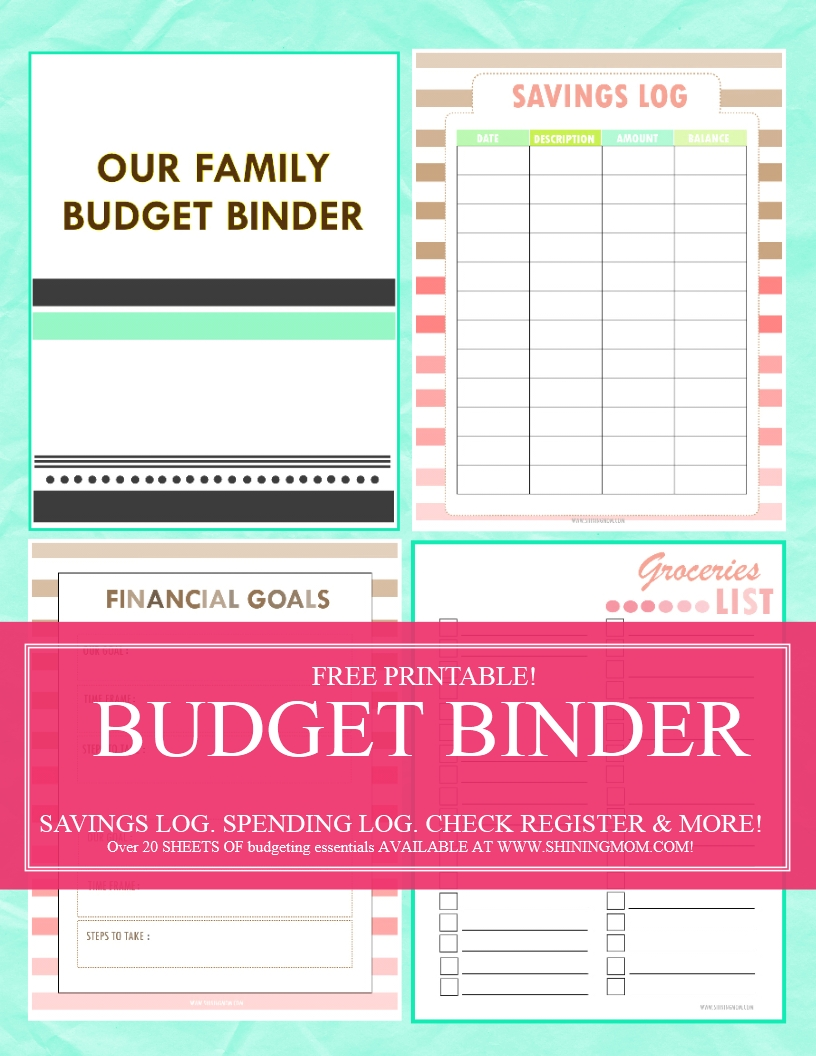 2016 Budget Binder Printables