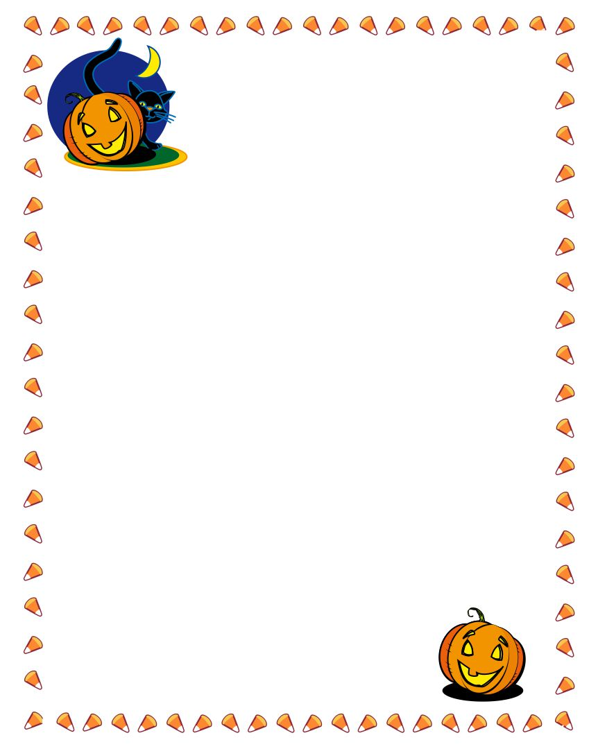 Printable Halloween Pumpkin Border
