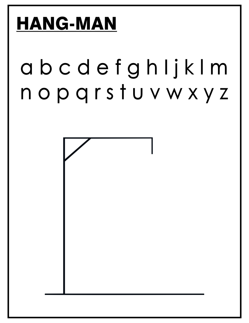 Printable Halloween Hangman