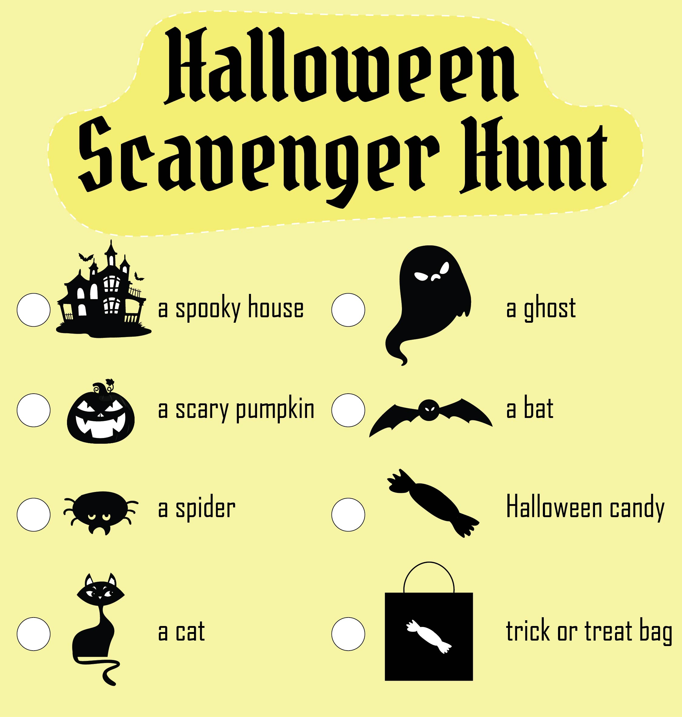 Printable Halloween Party Games Ideas