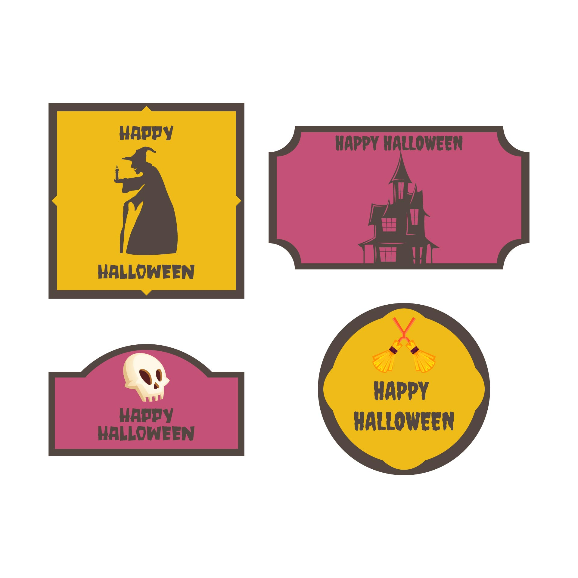 Personalized Gift  Printable Halloween Tags