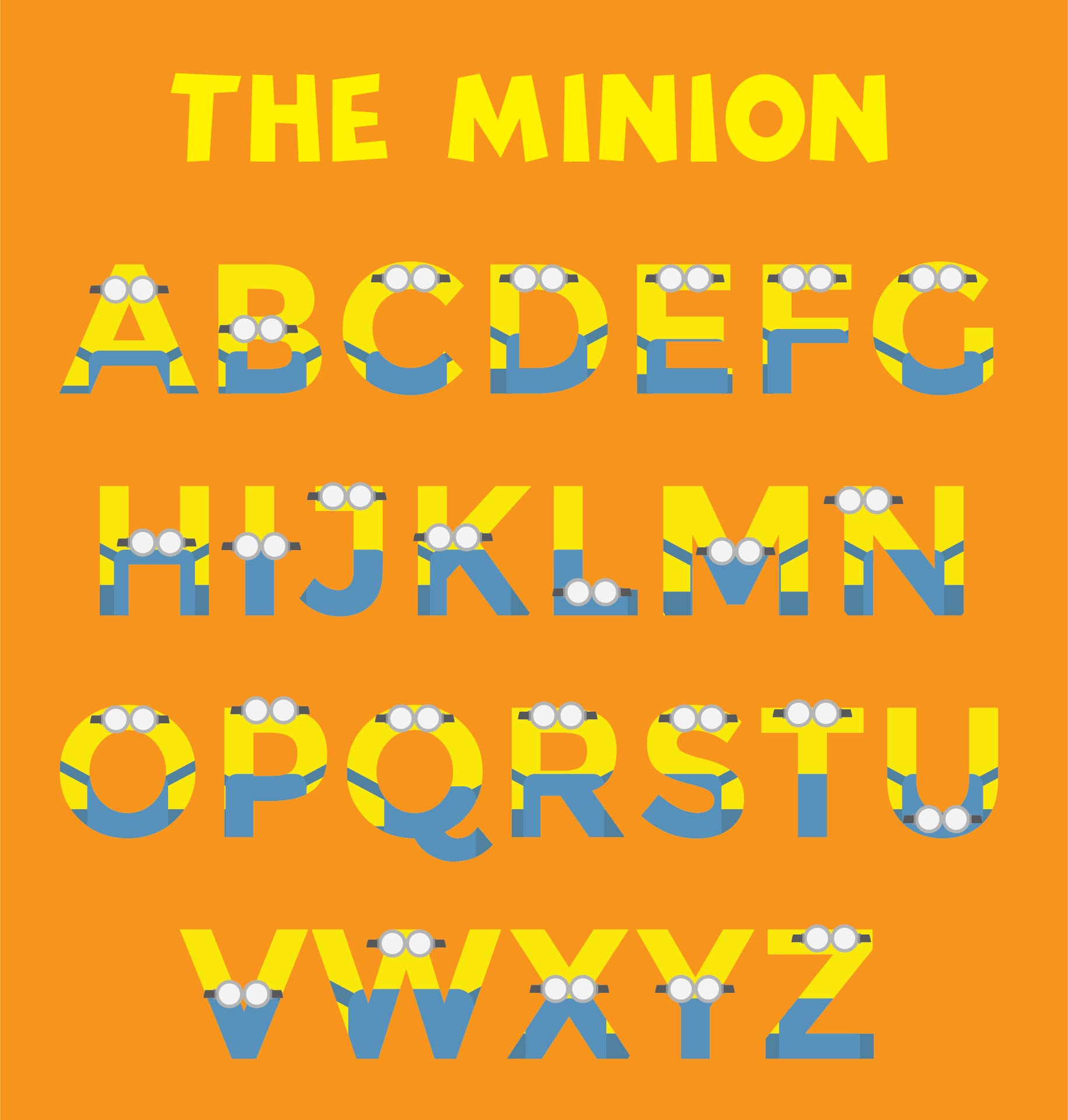 Printable Minion Alphabet