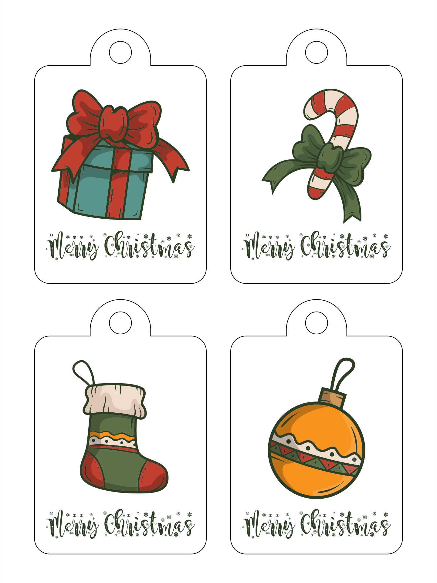 Name Tags Printable Christmas Present