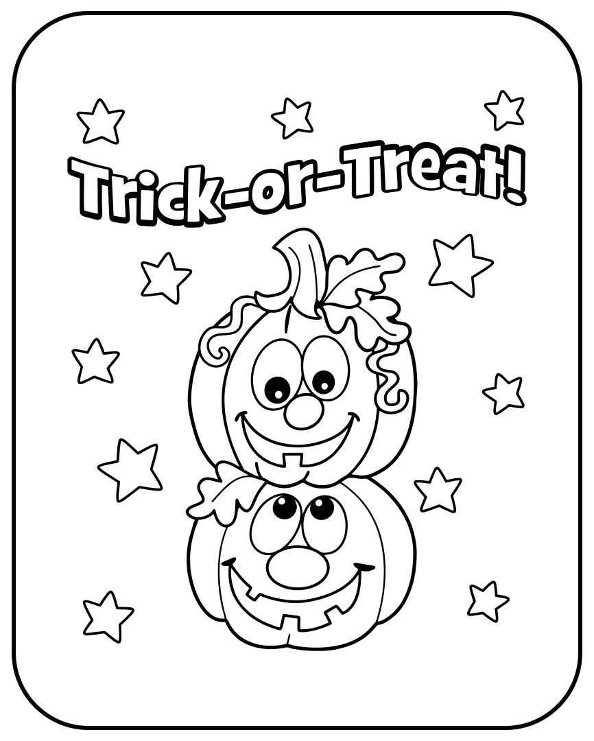 Halloween Printable Cards To Color