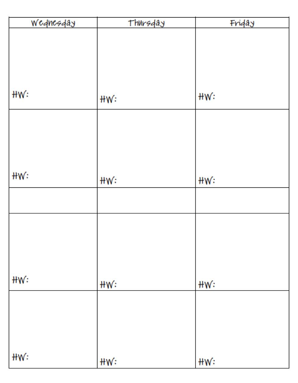 Printable Teaching Planners