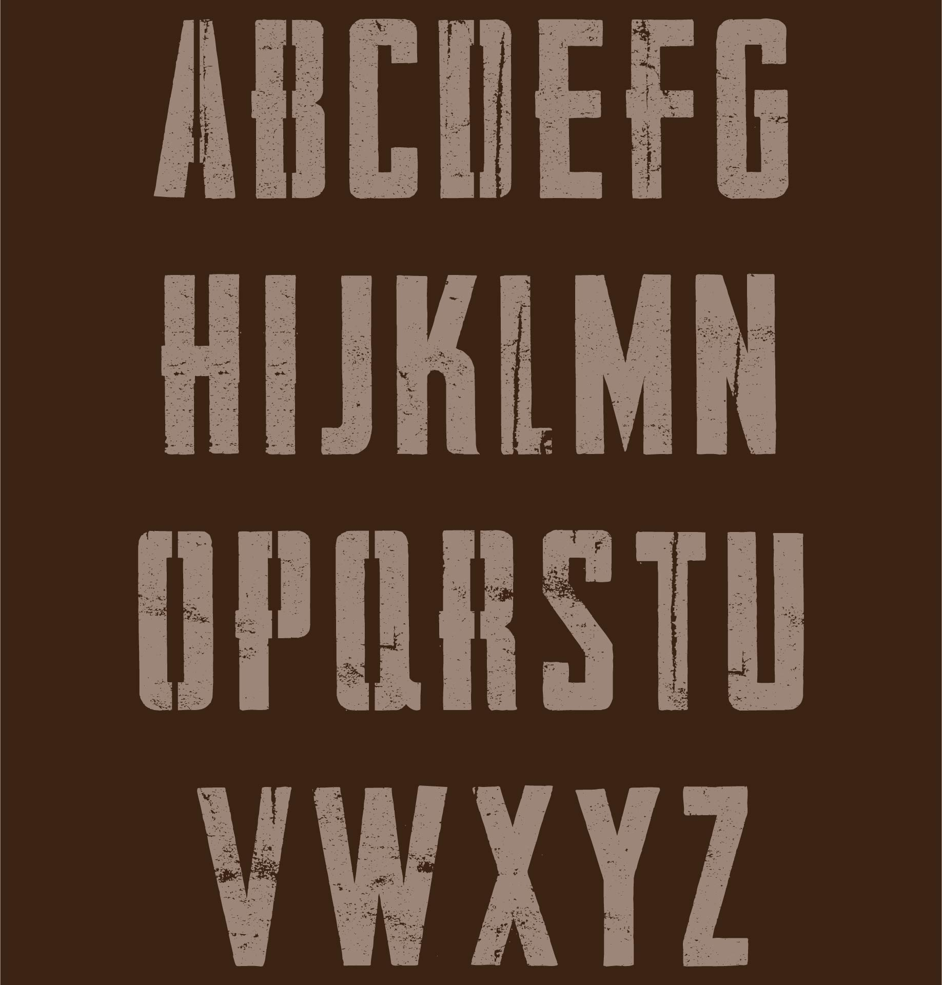 Medium Alphabet Stencils Printable