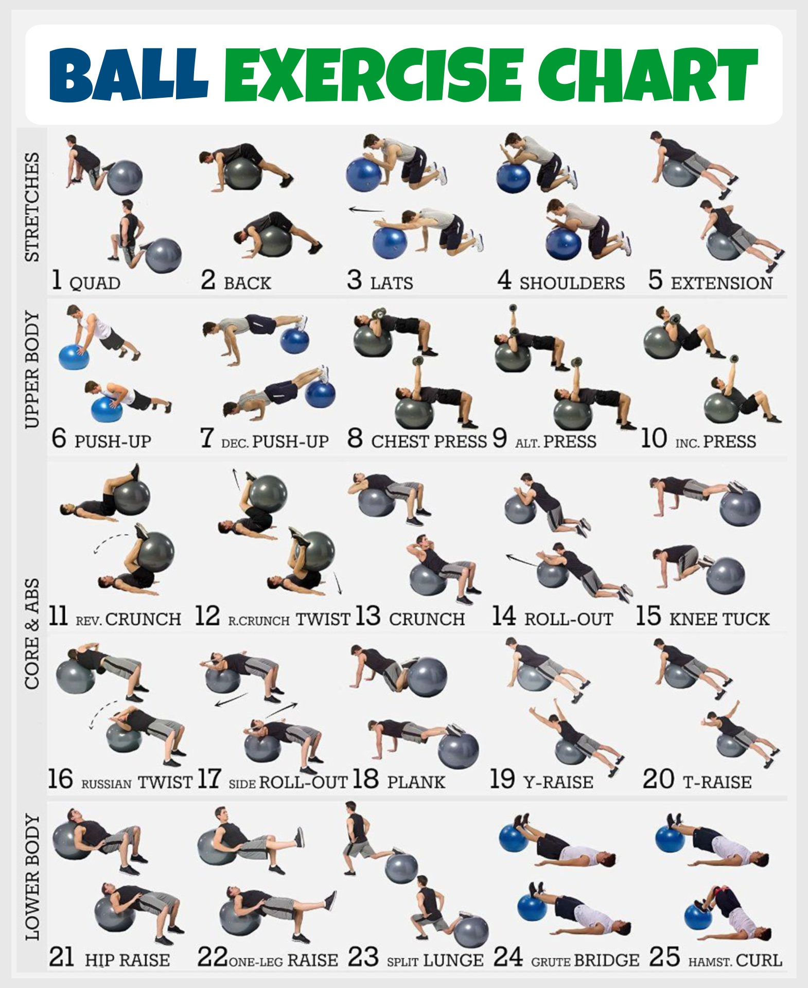 Printable Workout Charts Exercises