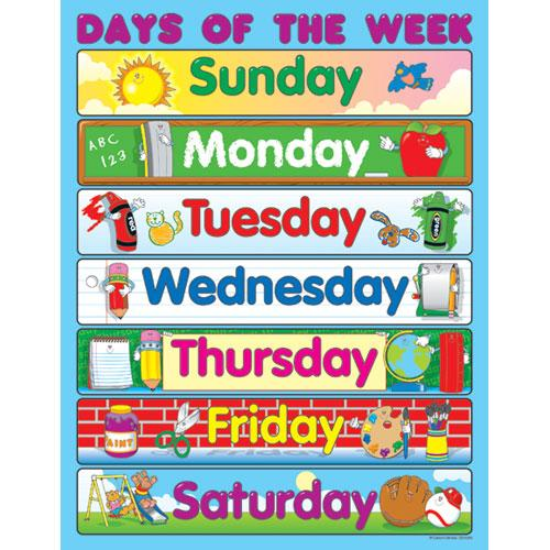 8 Best Images of Printable Flashcards Days Of The Week ...