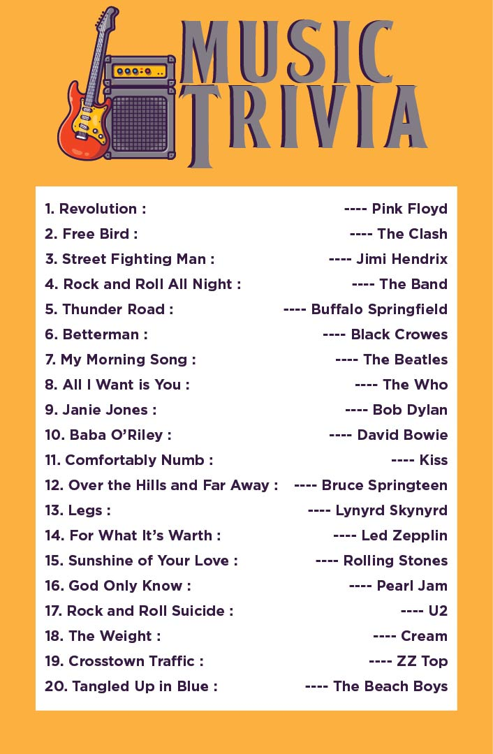 Printable 50s Trivia Questions And Answers