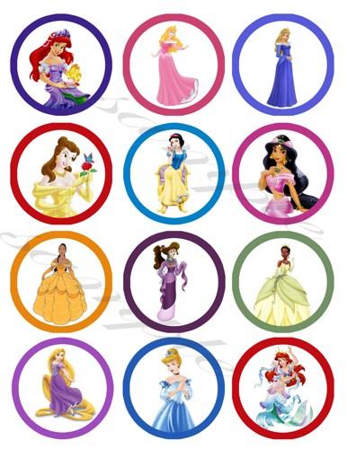 Printable Princess Stickers