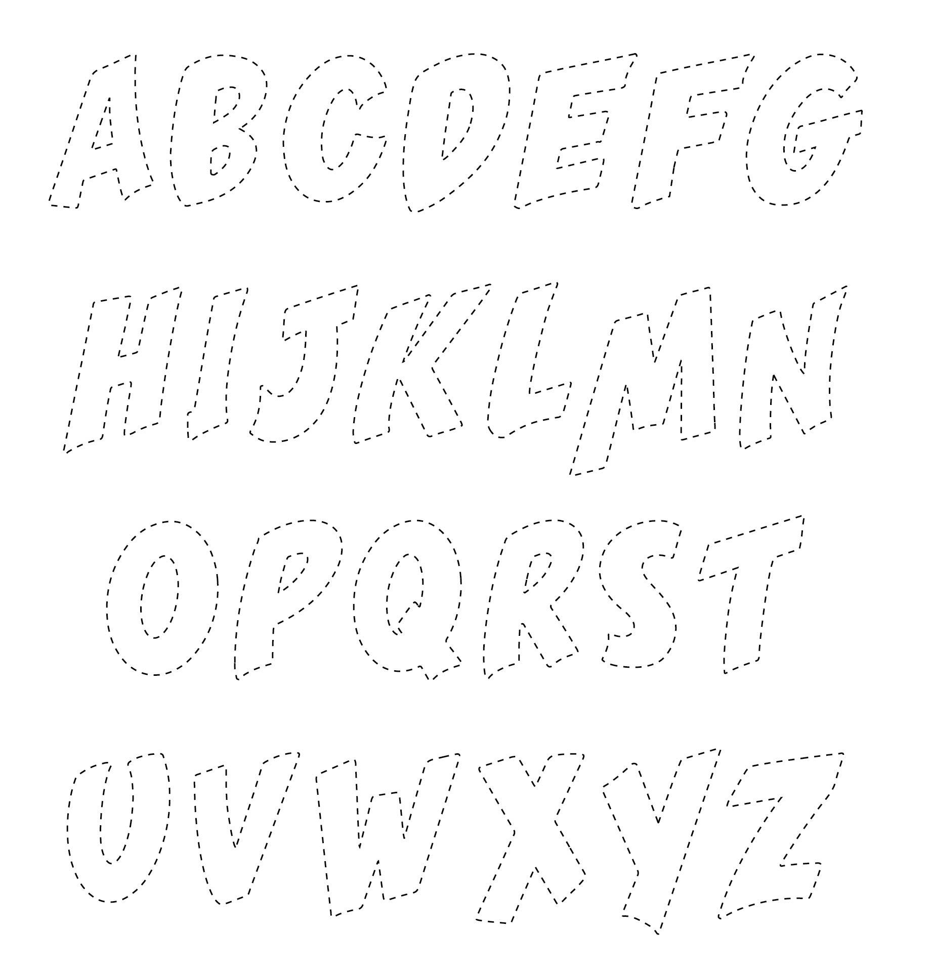 Printable Alphabet Designs