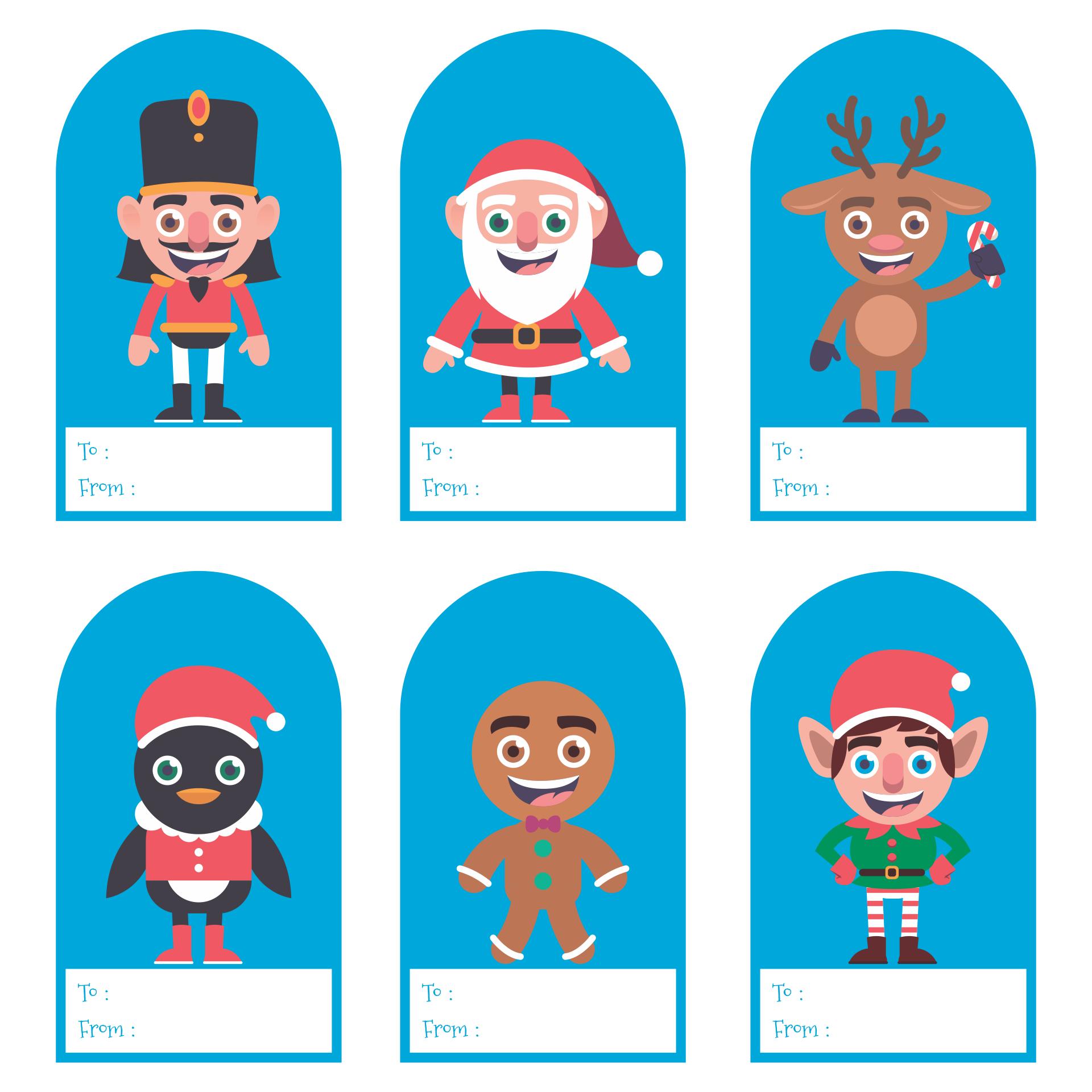 Christmas Gift Tags Paper Printable
