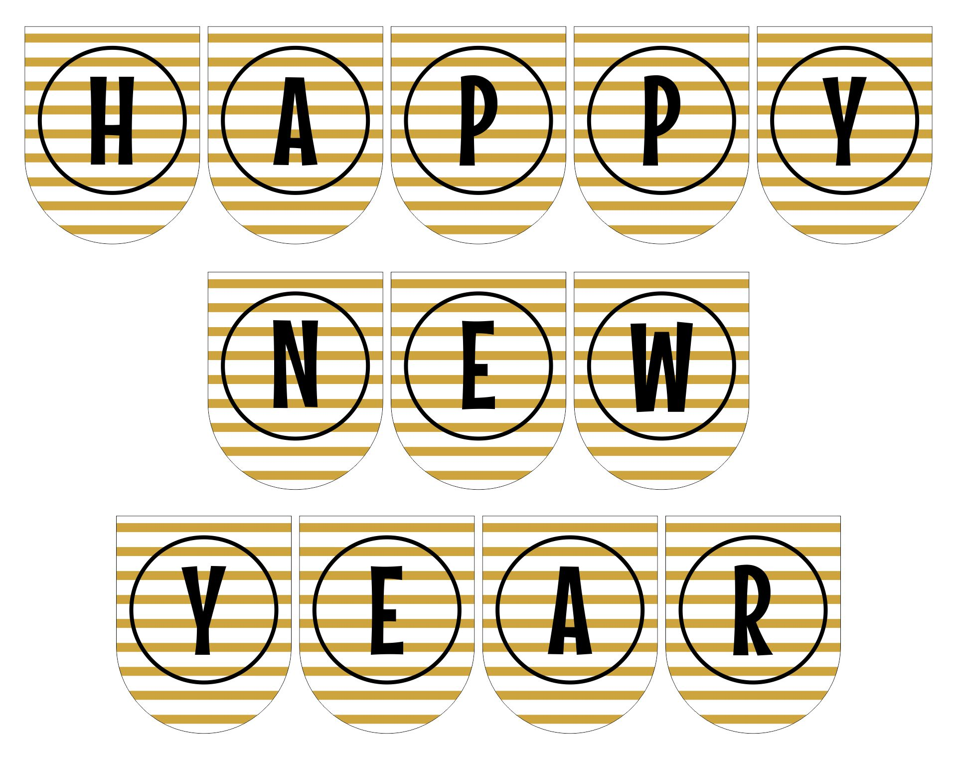 Printable New Year