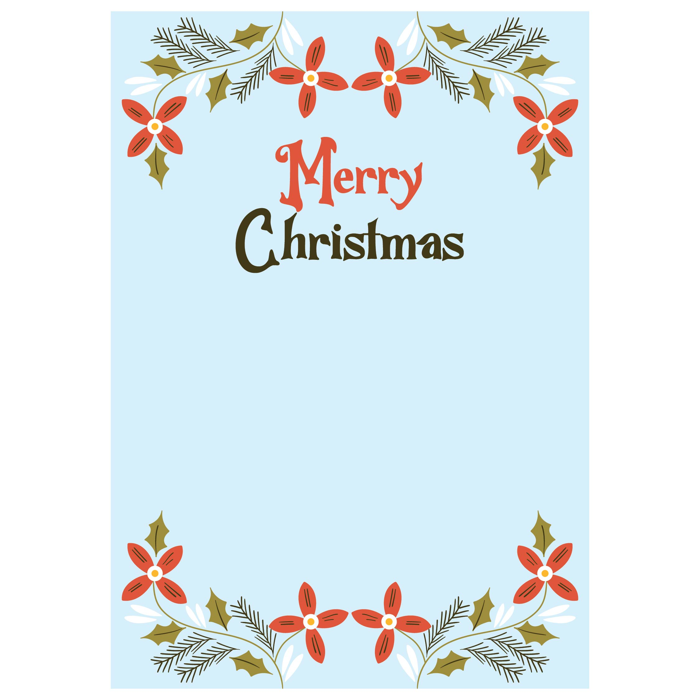 Christmas Cards Front And Back Printable For Teachers