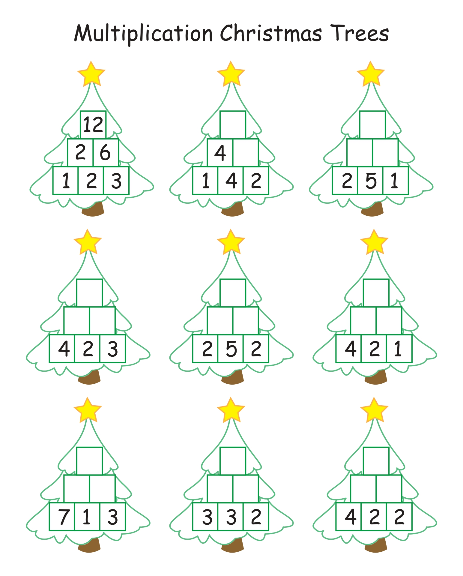 Printable Worksheets For 1st Grade Christmas Activities