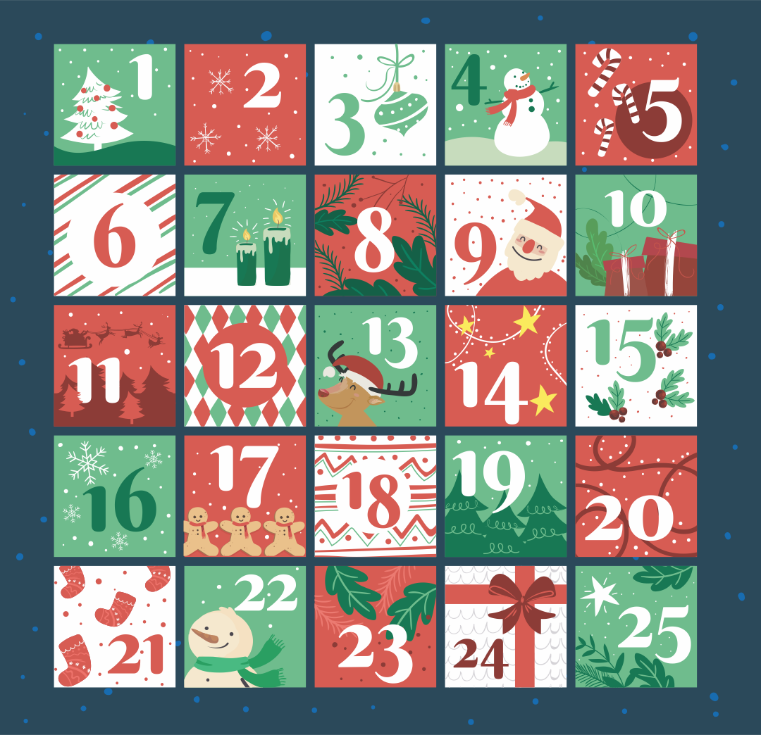 Christmas Countdown Number Printables