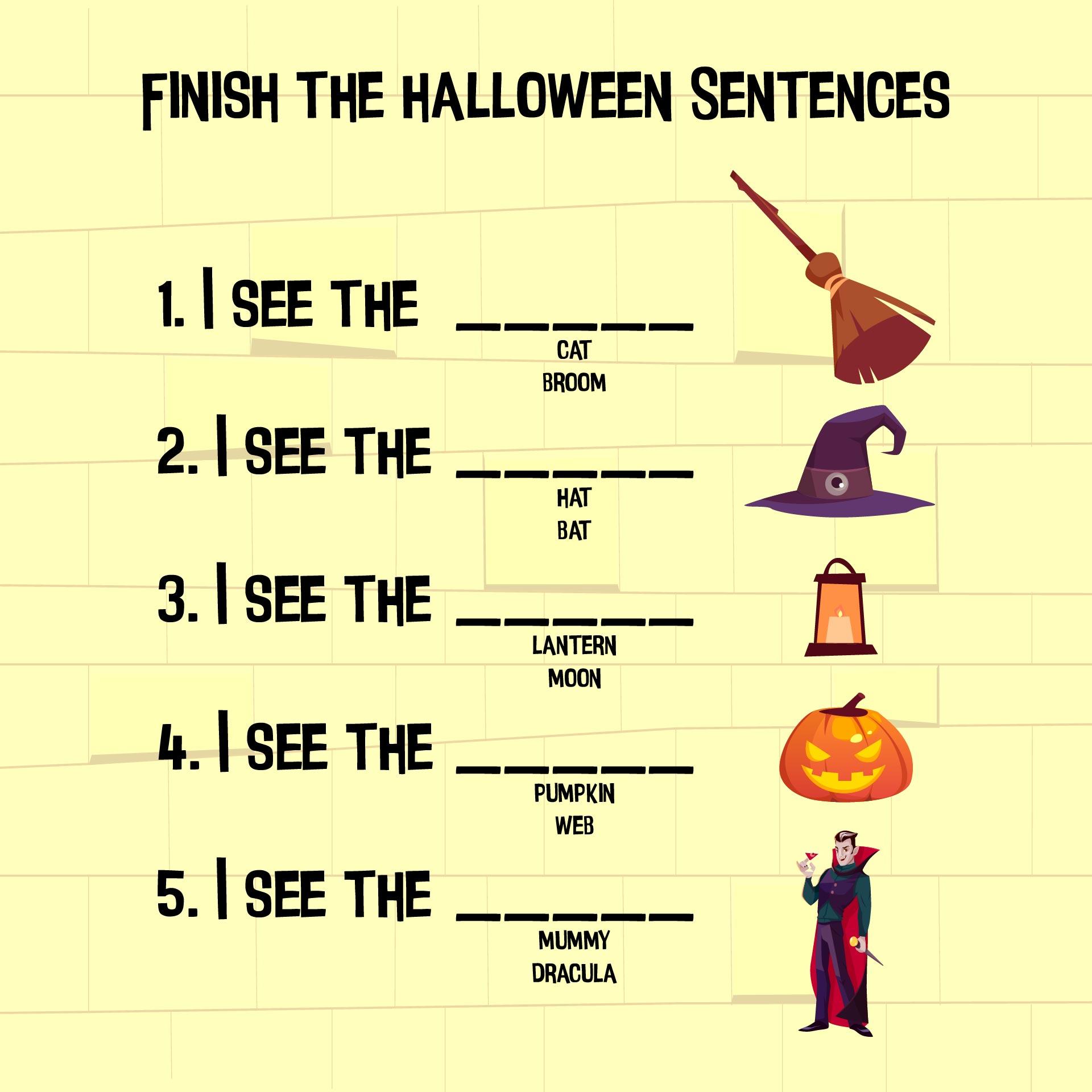 Halloween Printable Activity Worksheets