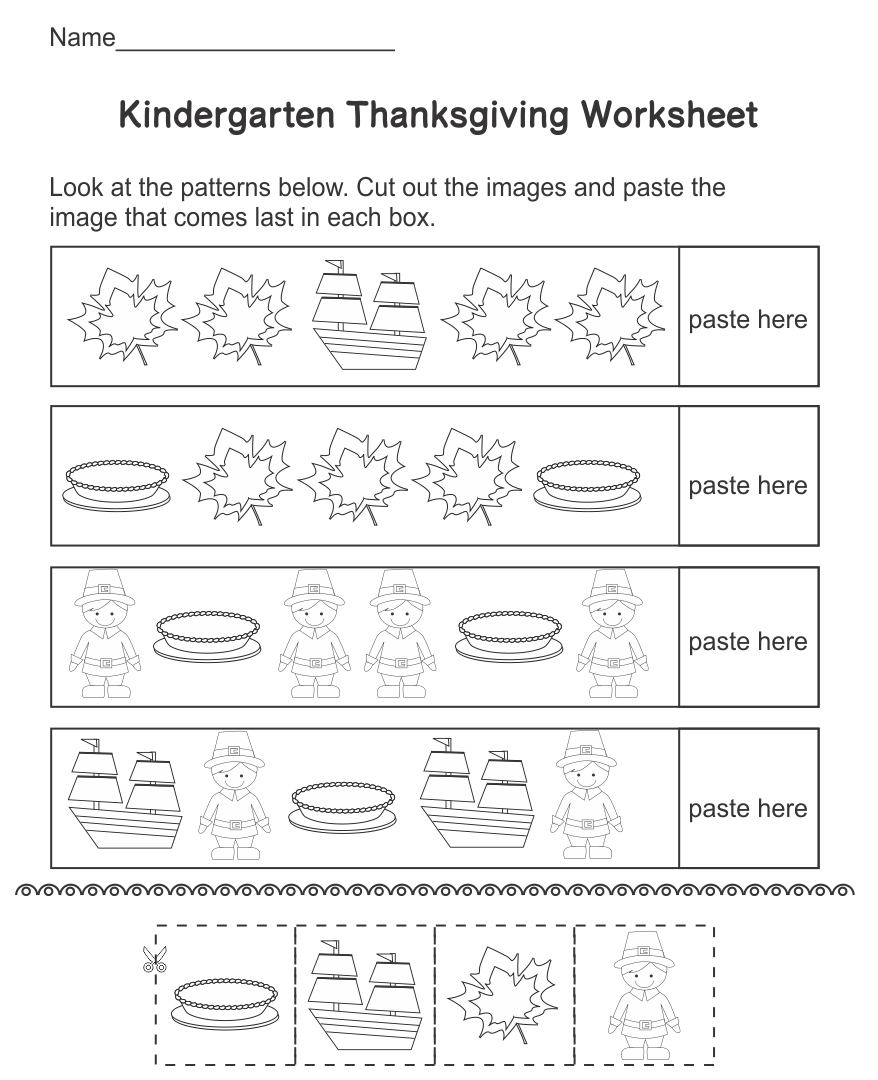 Printable Thanksgiving Turkey Worksheets