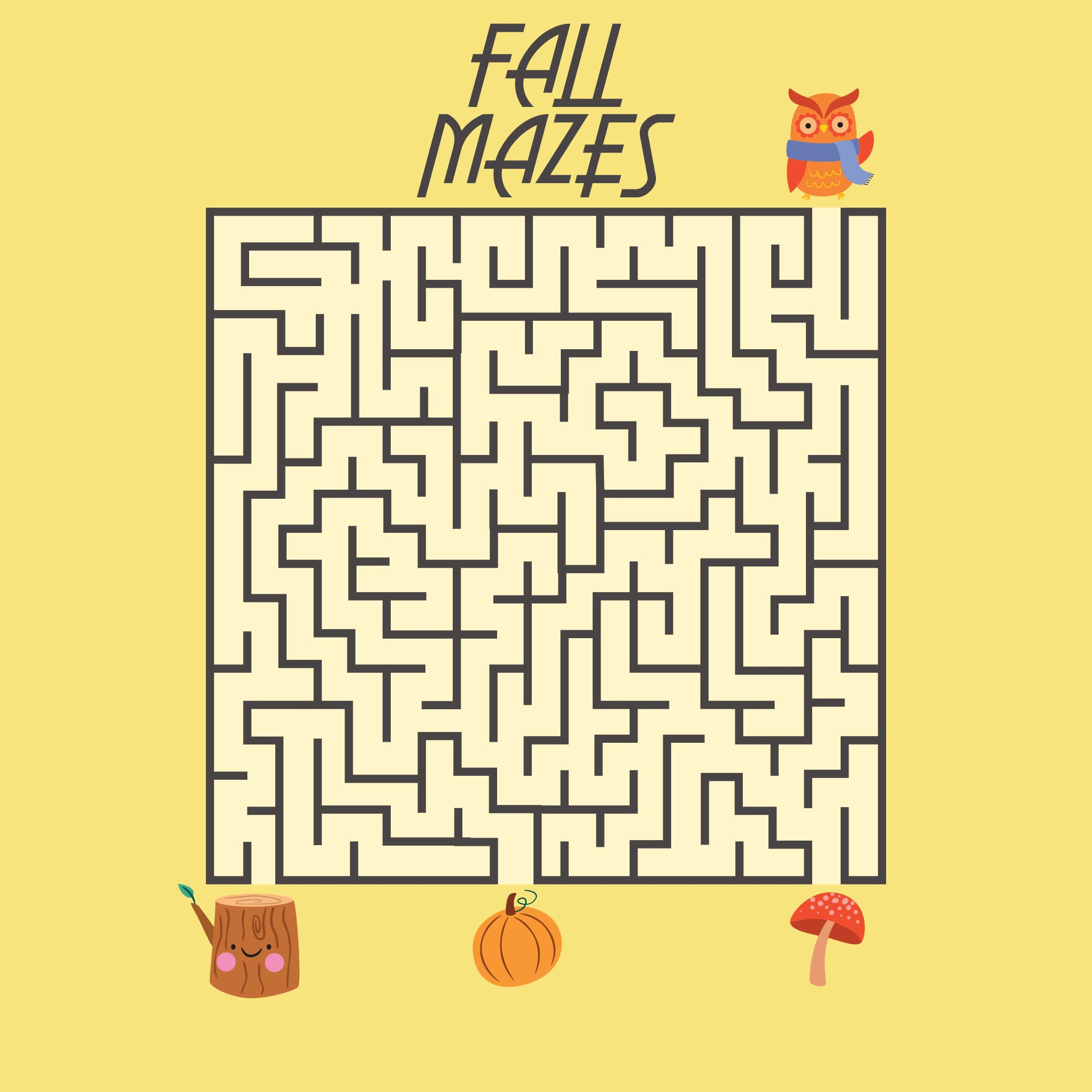 Autumn Leaf Maze Printable