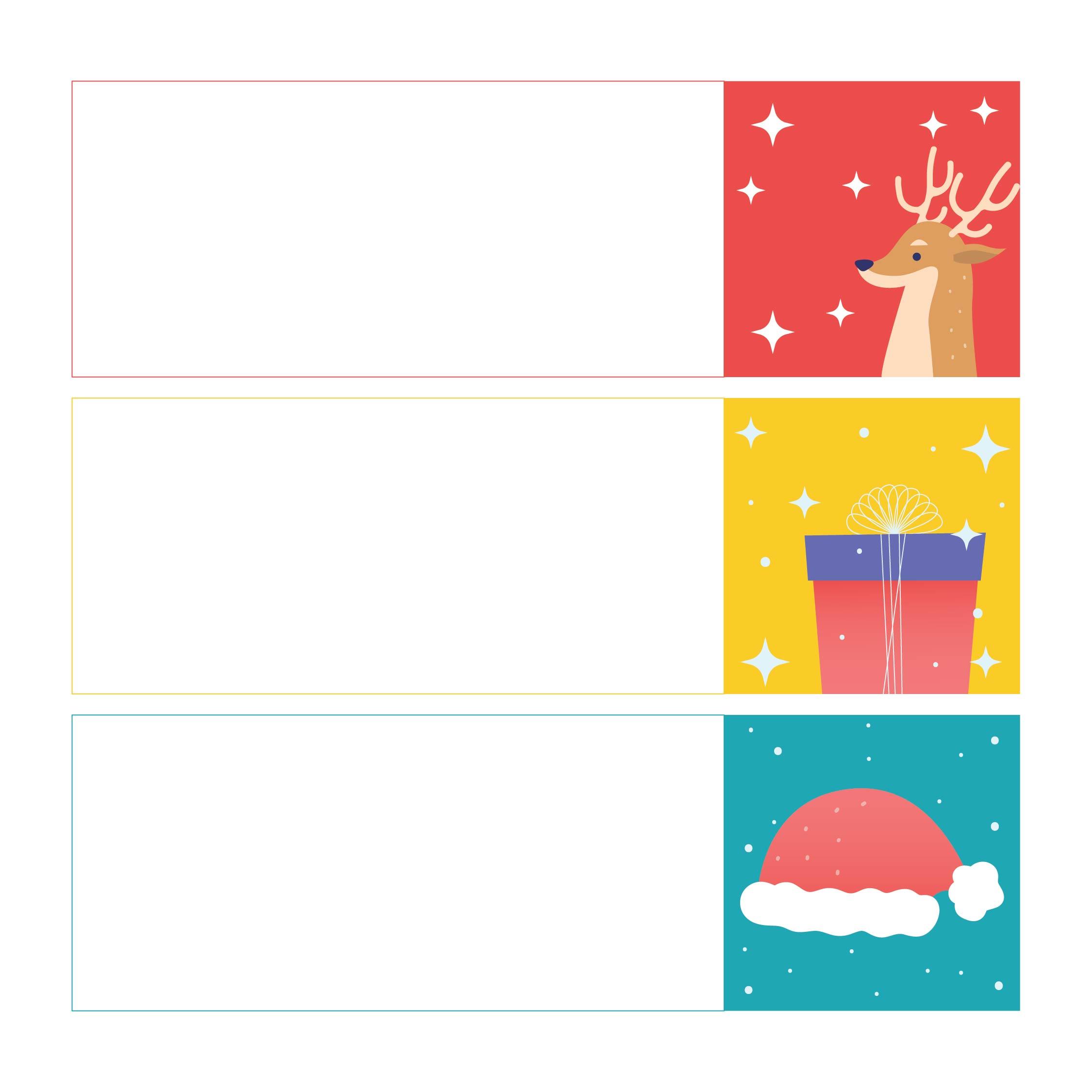 Small Christmas Cards  Printable