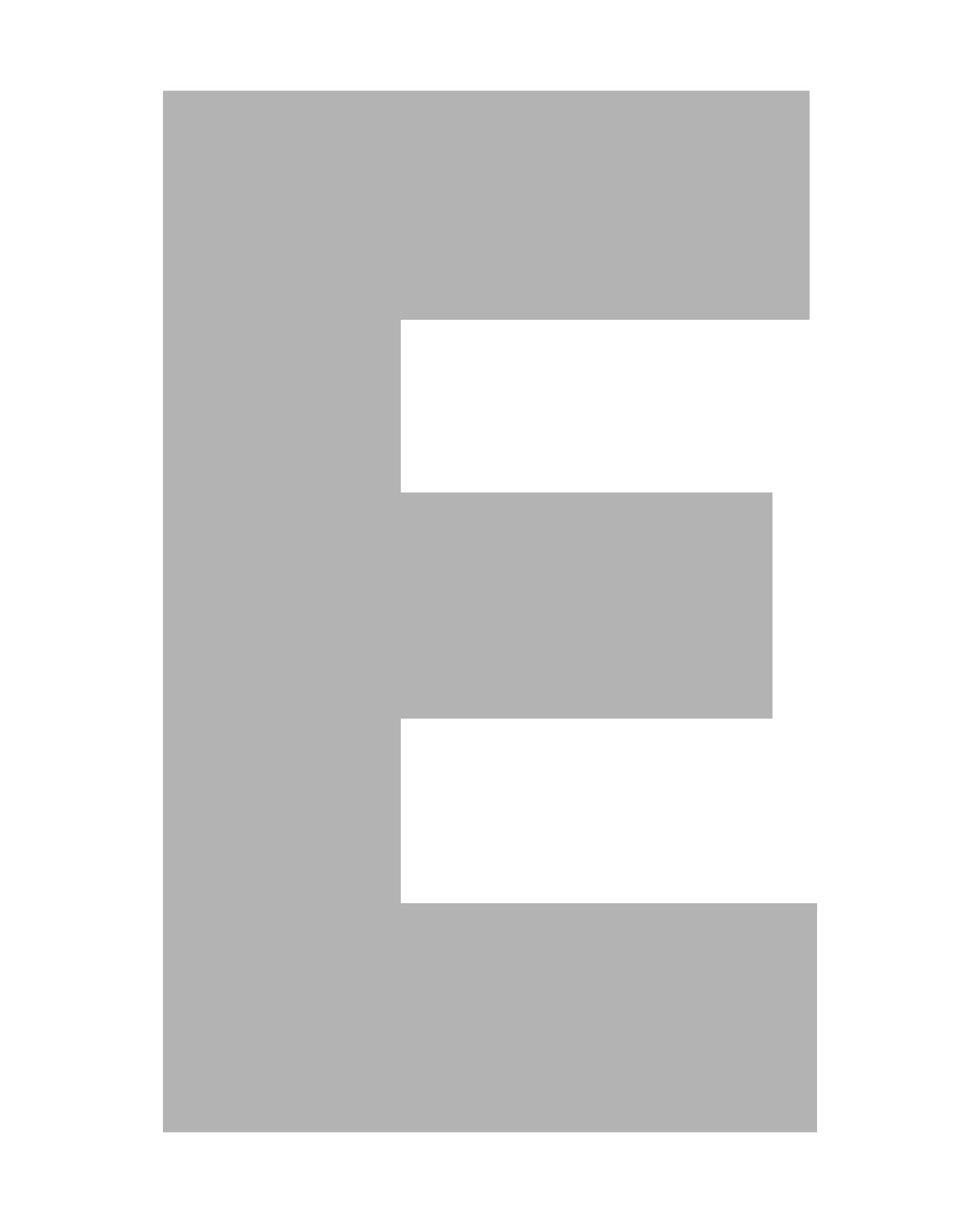 Printable Block Letter Stencils E