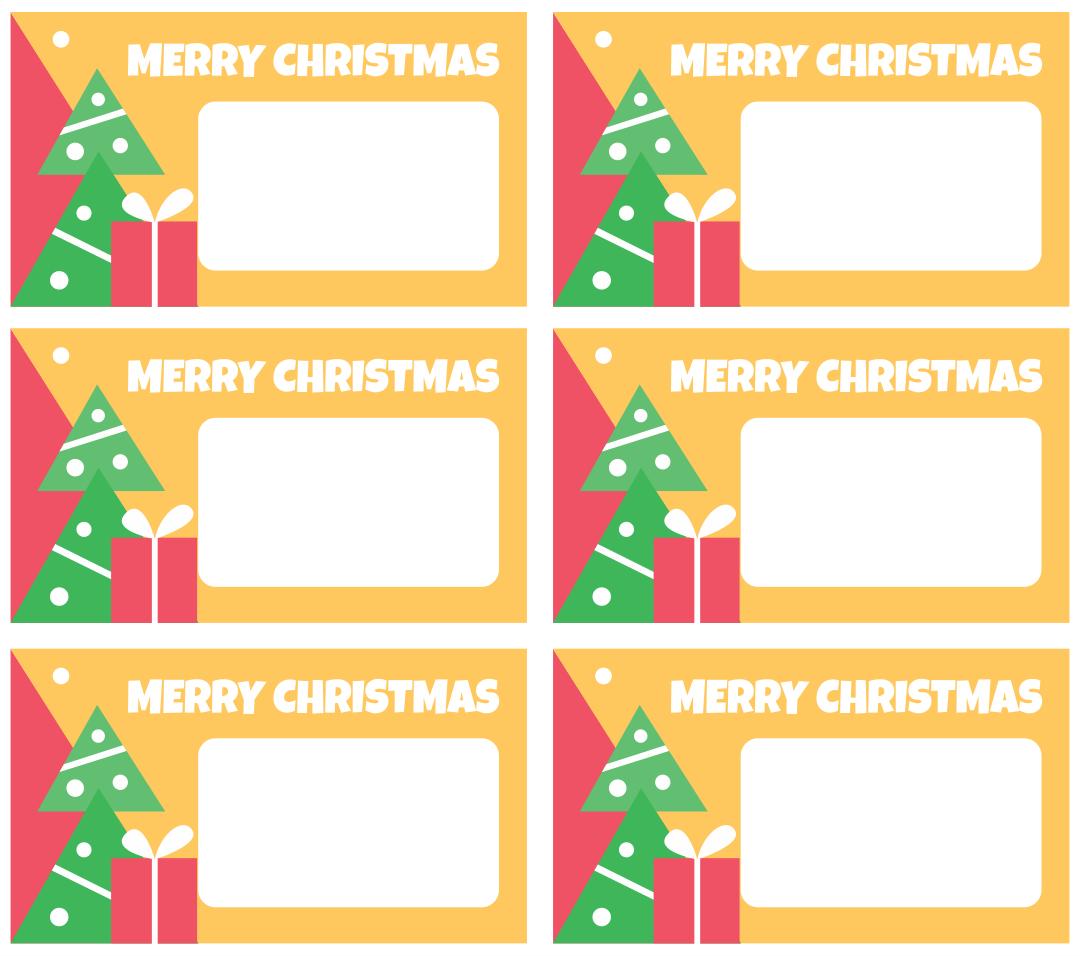 Printable Christmas Gift Tags Round