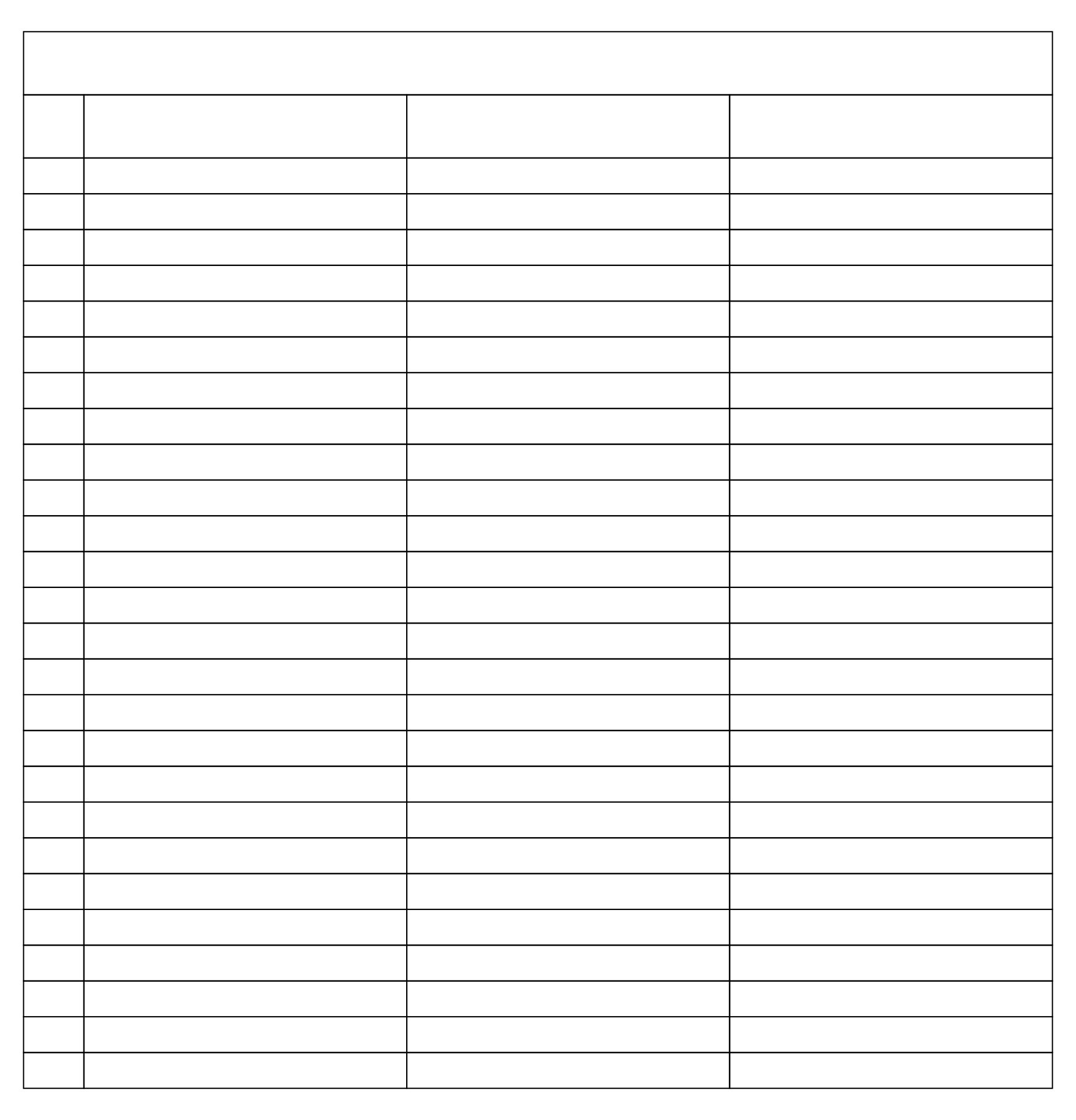 Printable 4 Column Sheet